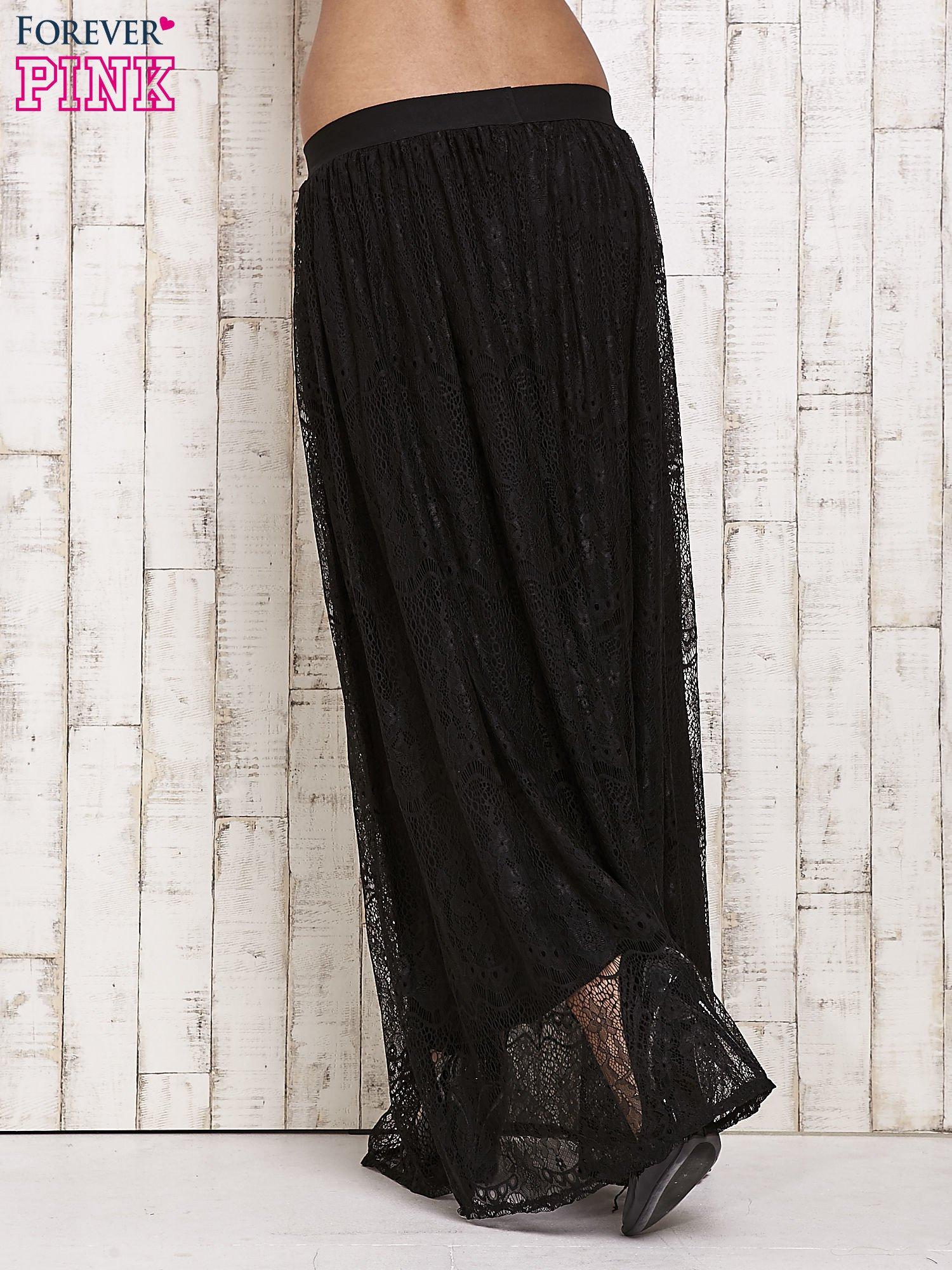 Czarna koronkowa spódnica maxi                                  zdj.                                  3