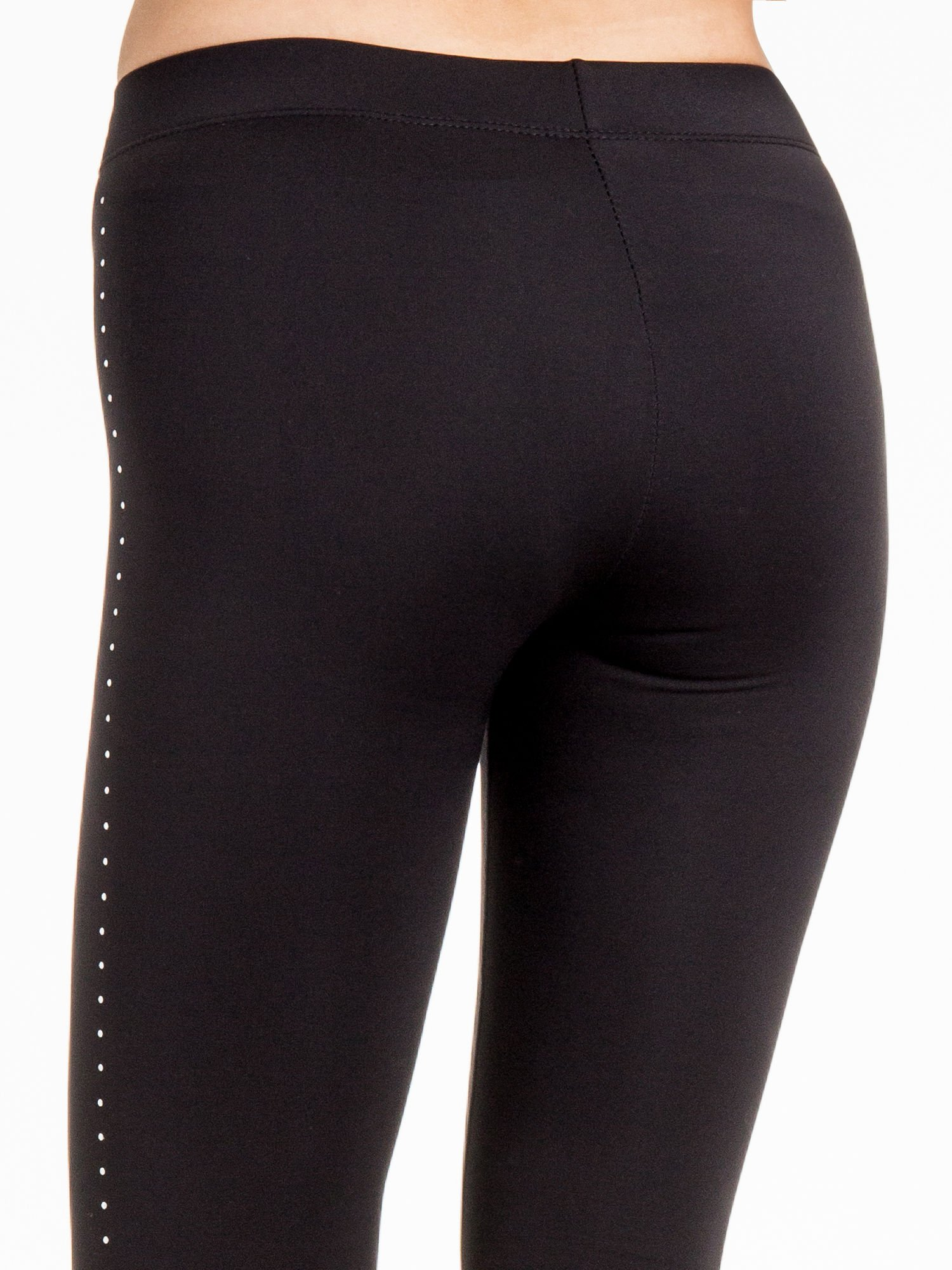 Czarna legginsy z dżetami wzdłuż nogawki                                  zdj.                                  8