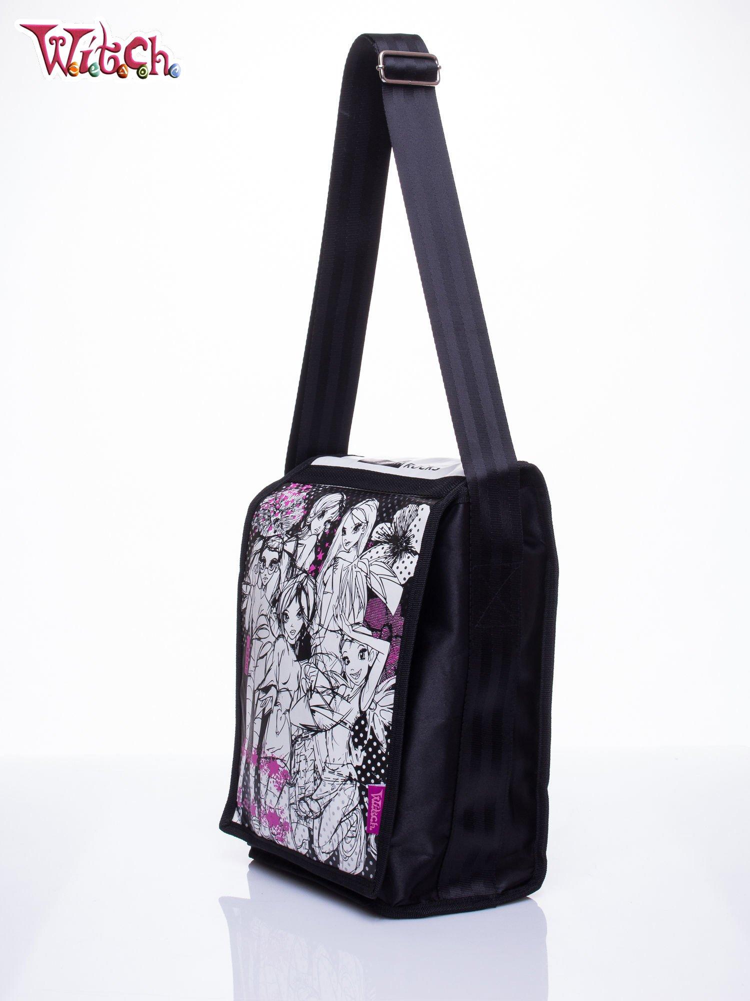 Czarna pionowa torba szkolna DISNEY Witch