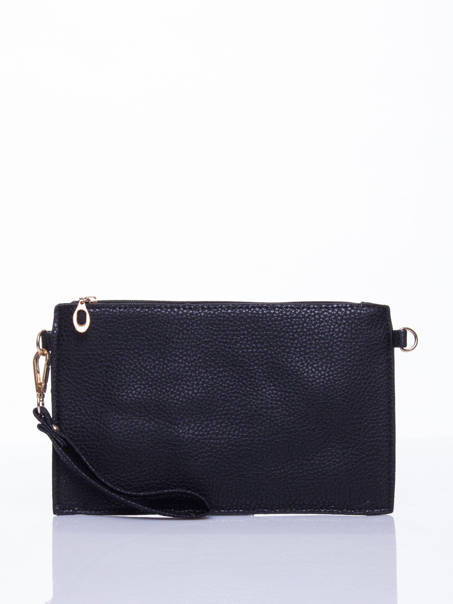 Czarna prosta przewieszana torebka z uchwytem                                  zdj.                                  1
