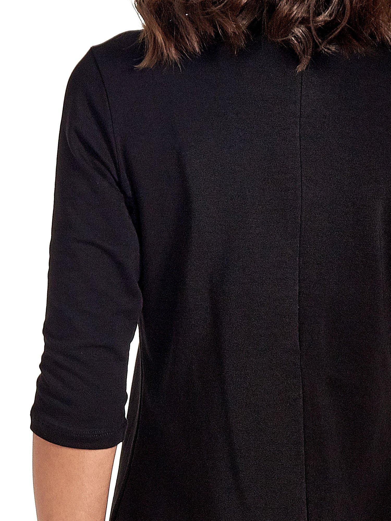 Czarna prosta sukienka z kieszeniami                                   zdj.                                  7