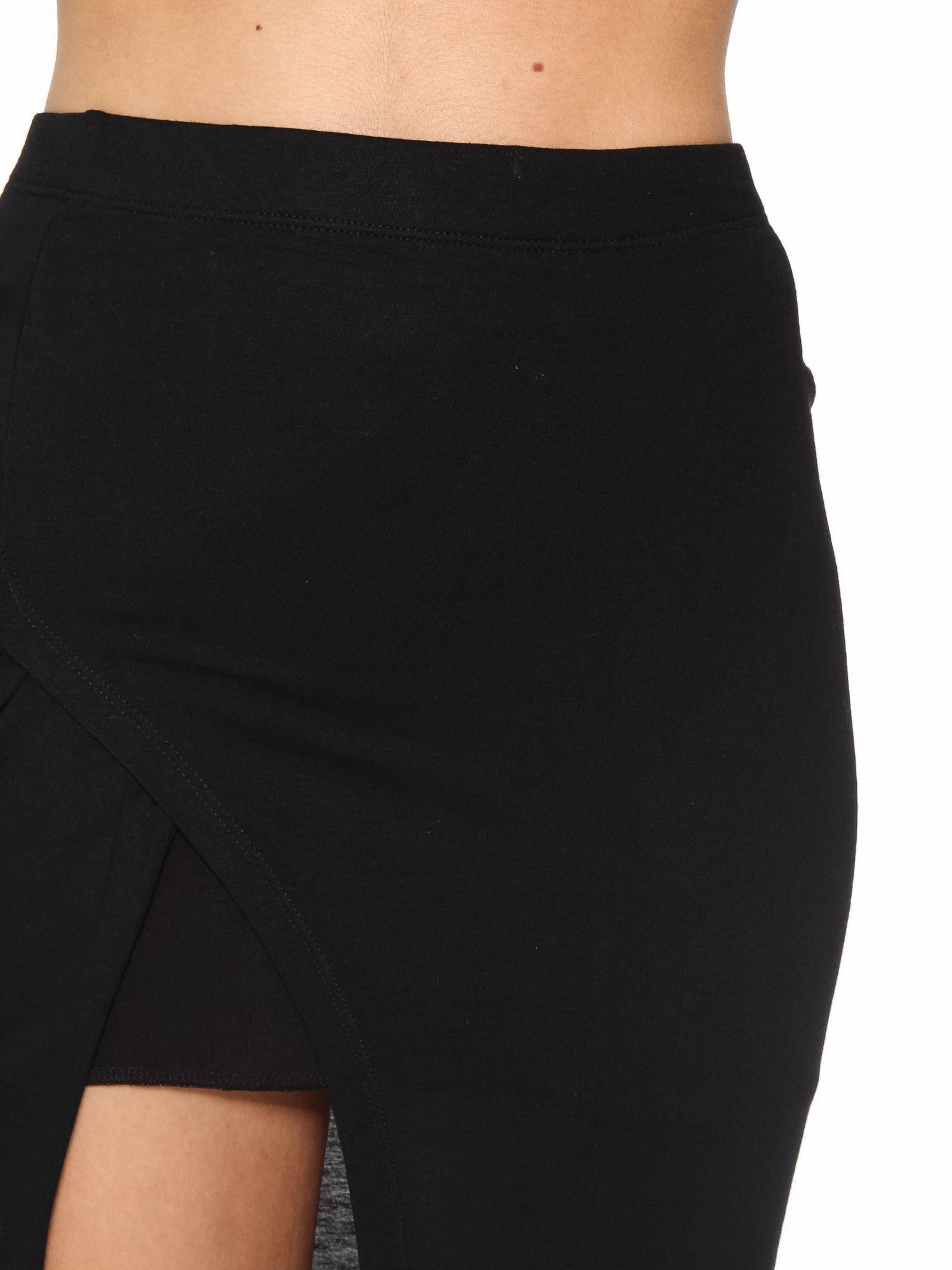 Czarna spódnica maxi z dużym rozcięciem z przodu                                  zdj.                                  7