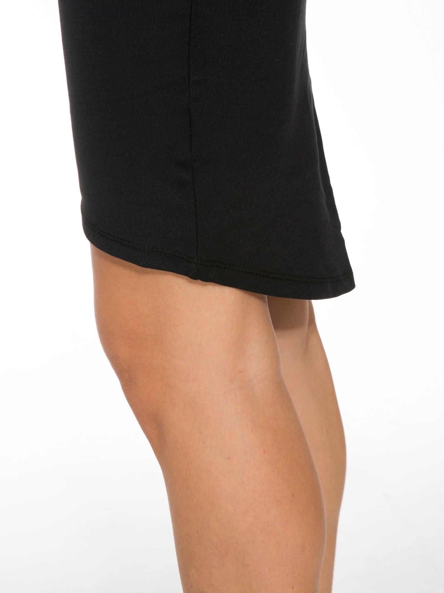 Czarna spódnica tuba z wydłużanym tyłem                                  zdj.                                  8
