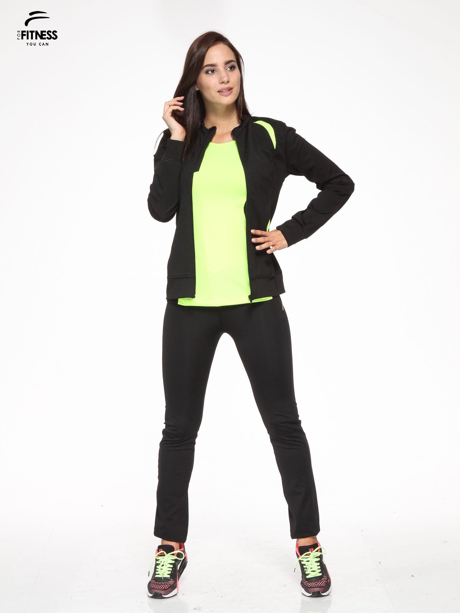 Czarna termoaktywna bluza do biegania z fluozielonymi wstawkami ♦ Performance RUN                                  zdj.                                  2