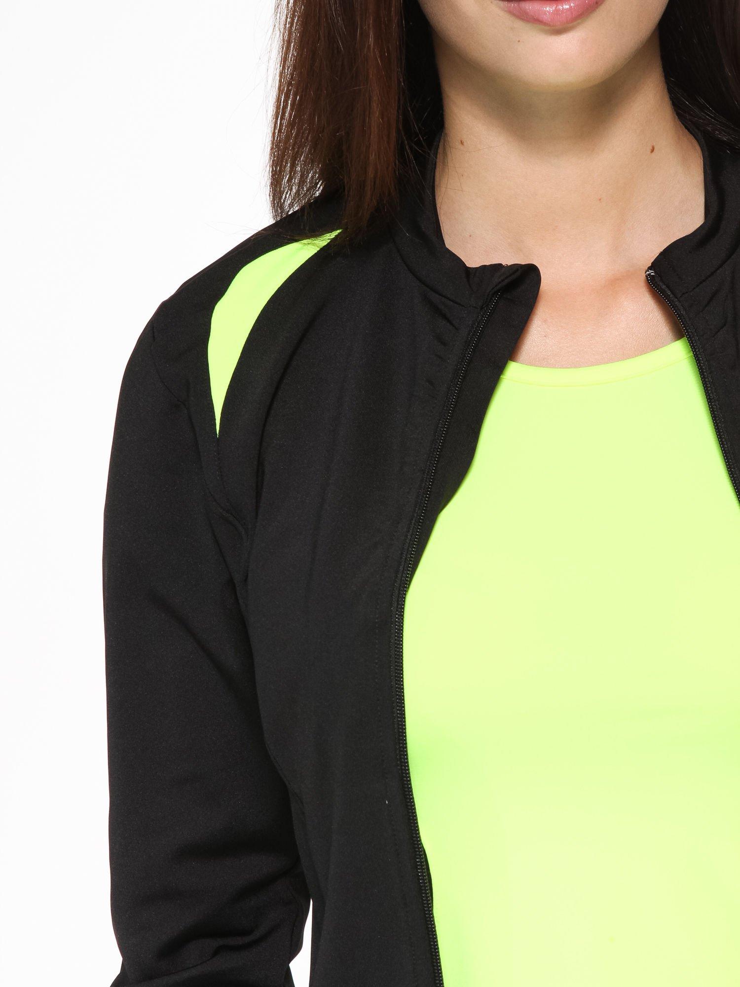 Czarna termoaktywna bluza do biegania z fluozielonymi wstawkami ♦ Performance RUN                                  zdj.                                  6