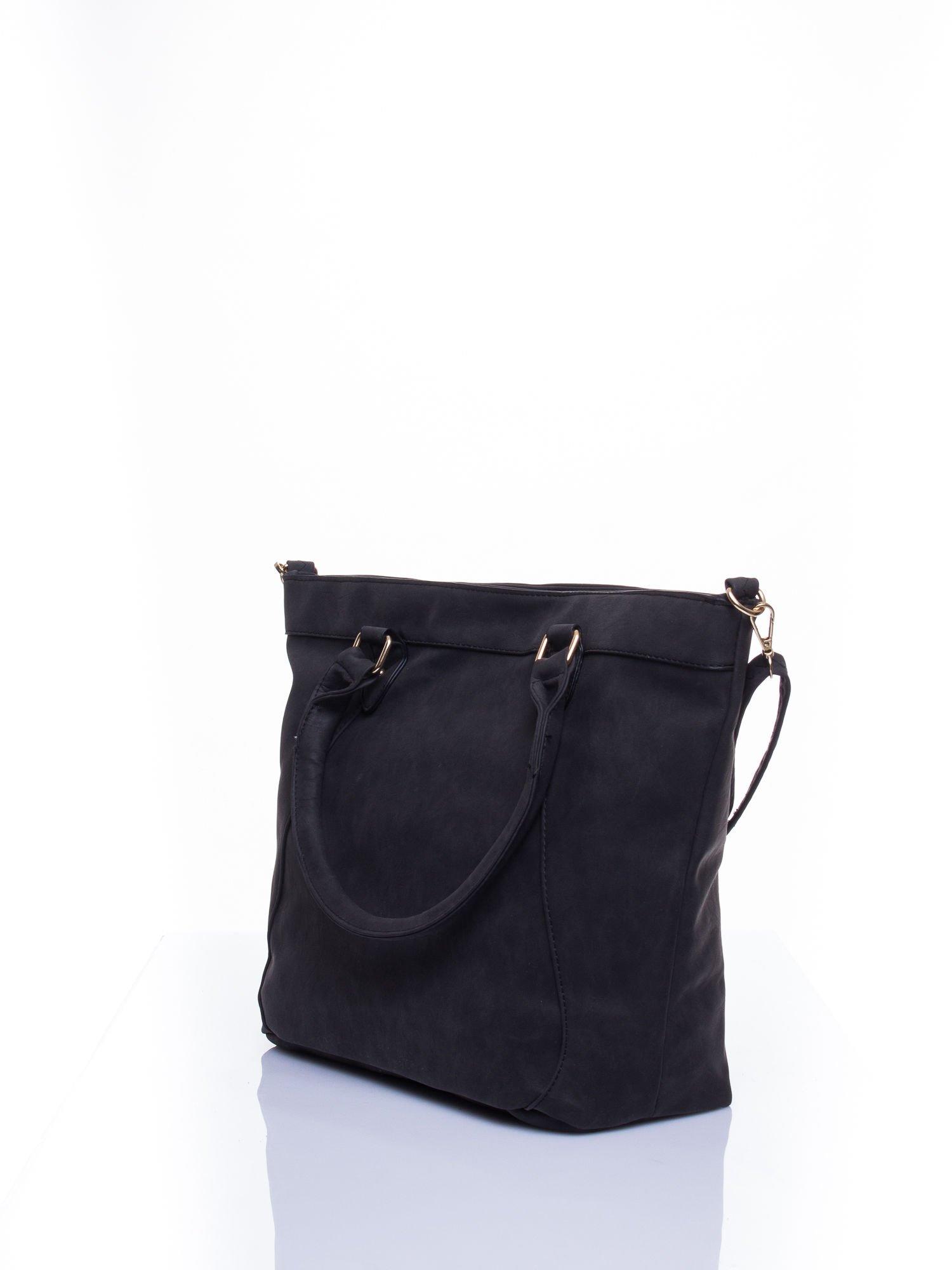 Czarna torba city bag na ramię                                  zdj.                                  3