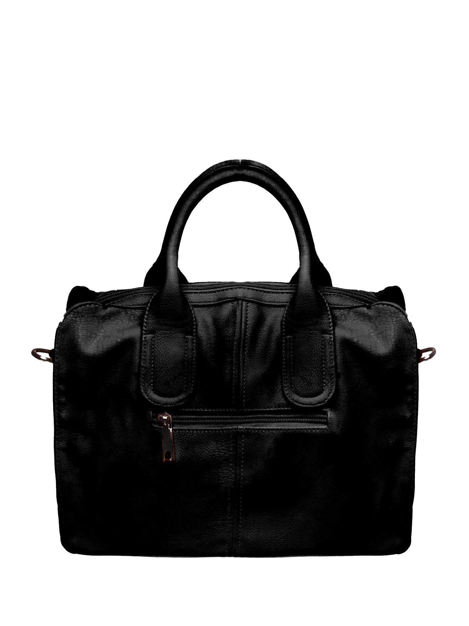 Czarna torba miejska z odpinanym paskiem                                  zdj.                                  2