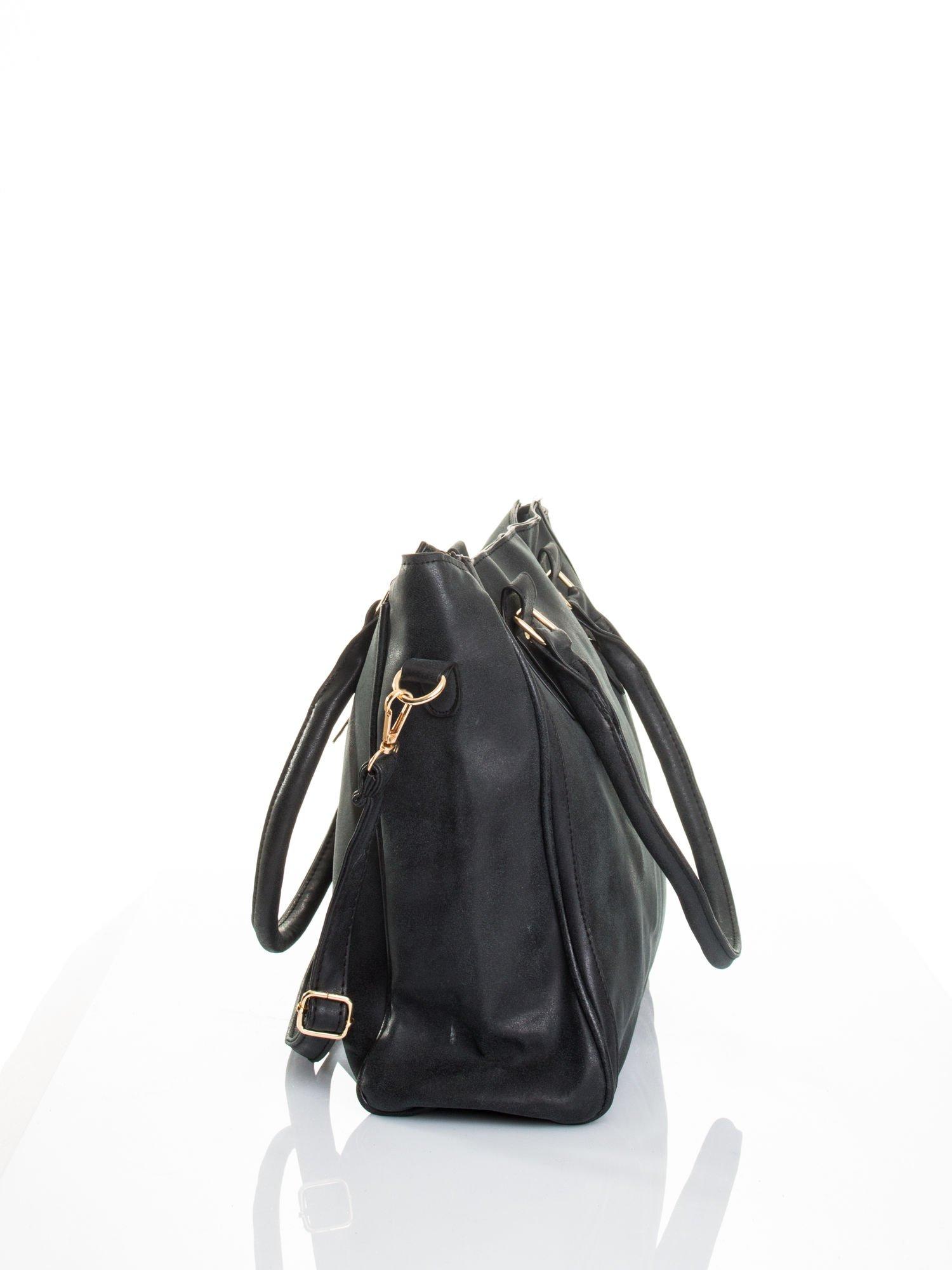 Czarna torebka miejska                                  zdj.                                  5