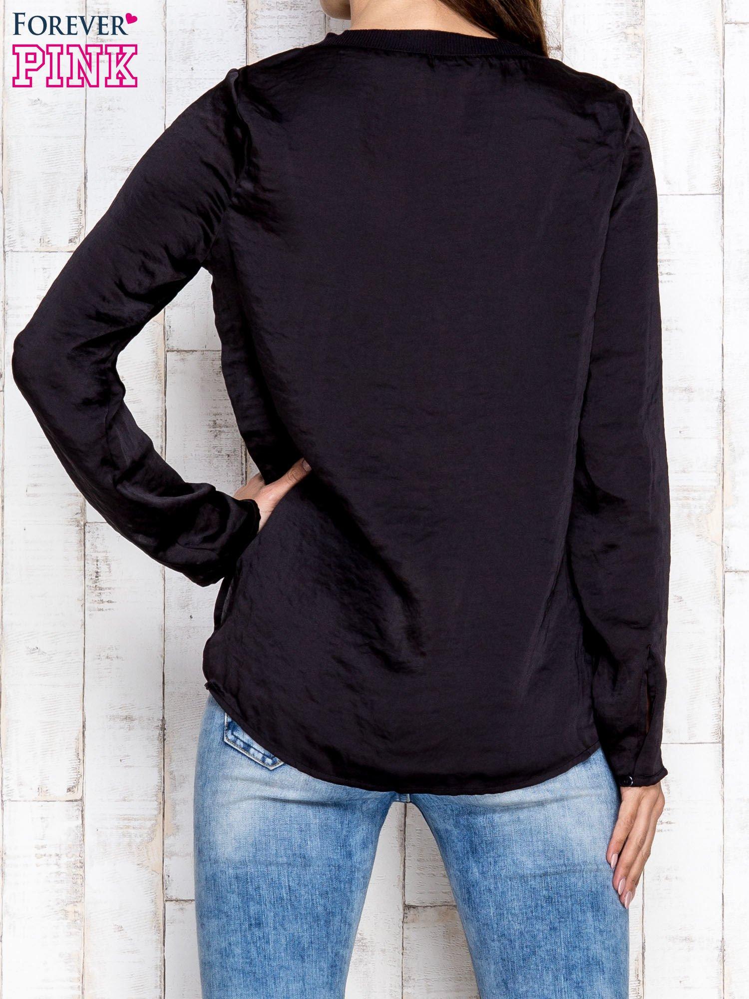 Czarna warstwowa bluzka oversize                                  zdj.                                  2