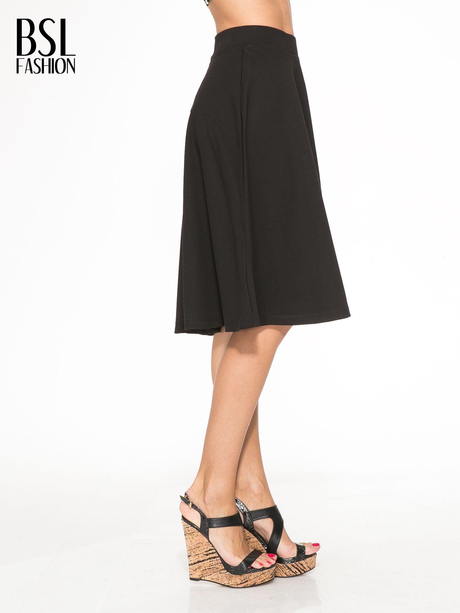 Czarna zwiewna spódnica midi                                  zdj.                                  3