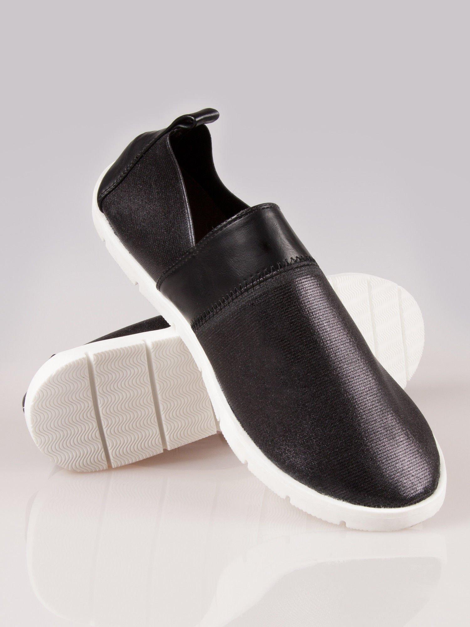Czarne buty slippers Dakota na traktorowej podeszwie                                  zdj.                                  4