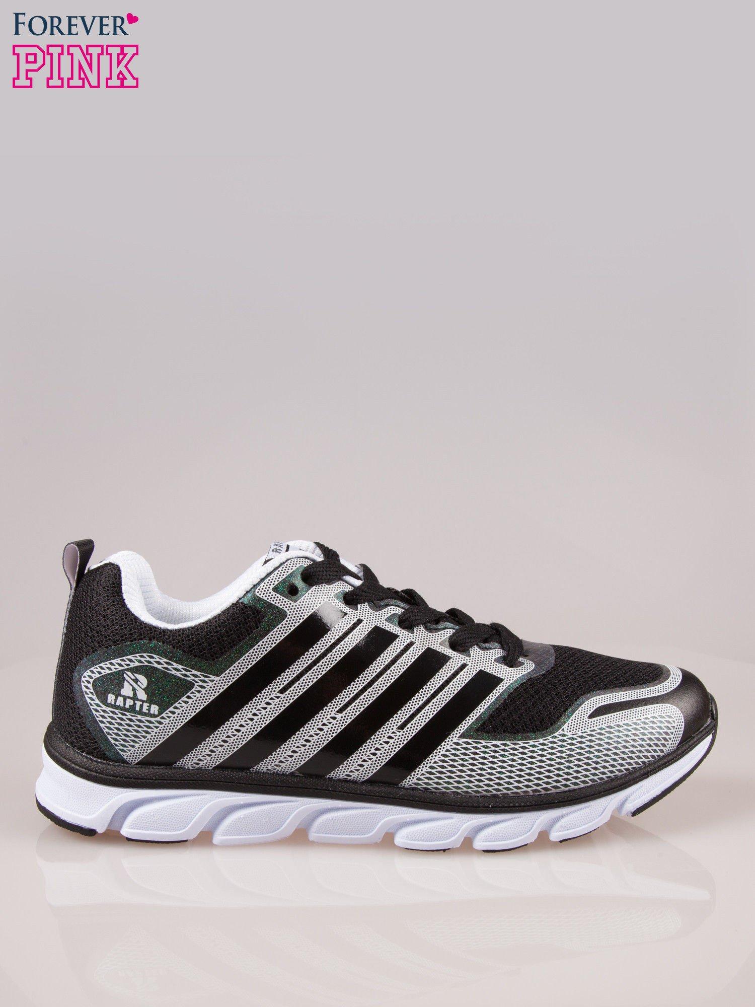Czarne buty sportowe damskie z elastyczną podeszwą                                  zdj.                                  1