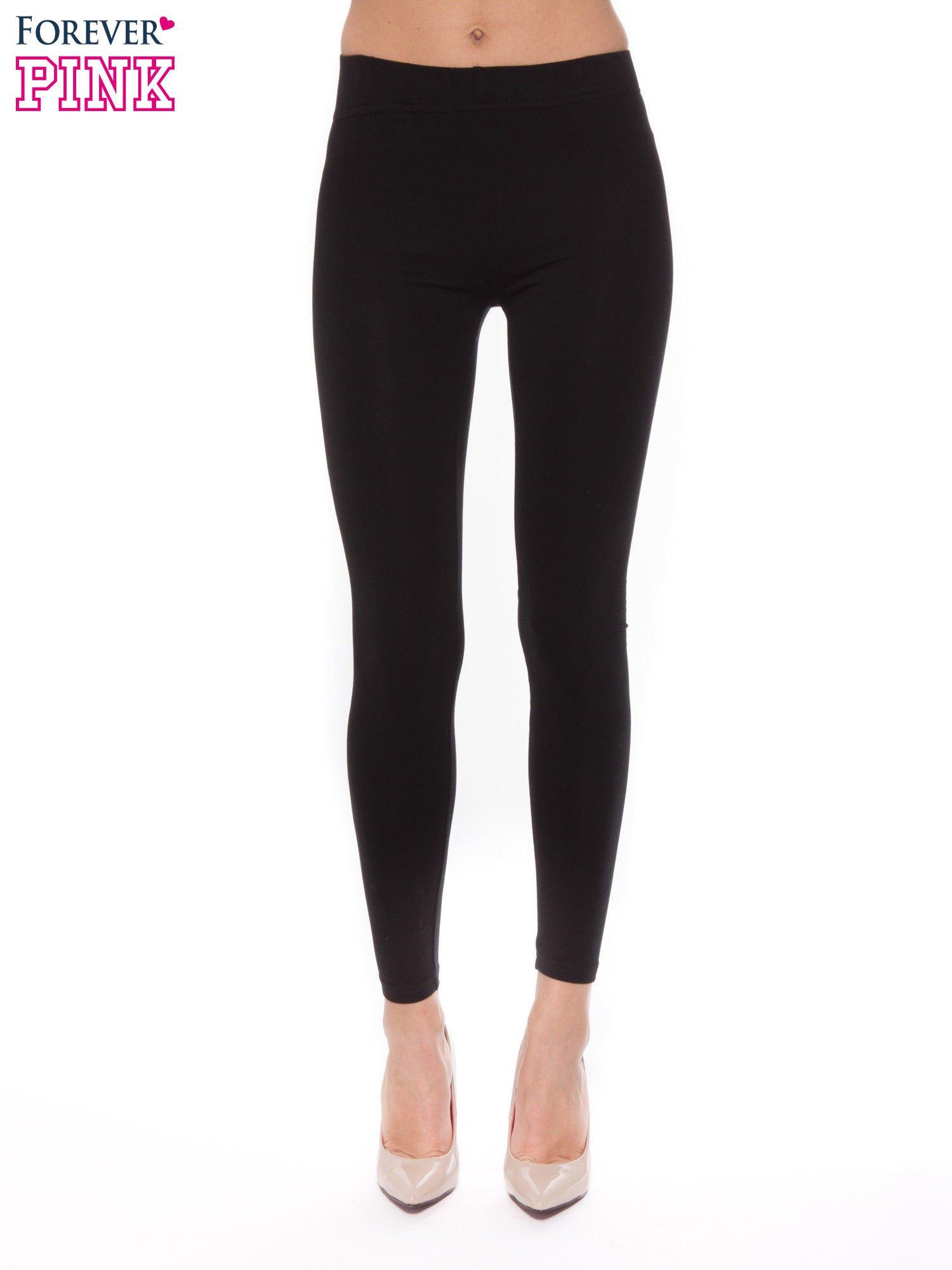 Czarne legginsy z bawełny                                  zdj.                                  1