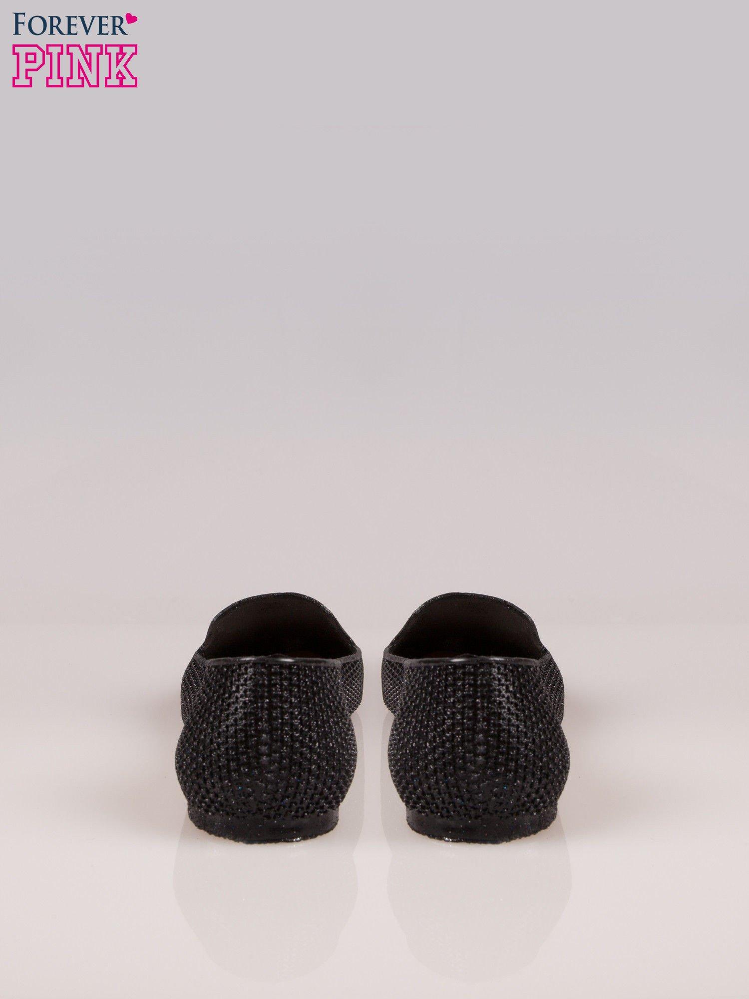 Czarne lordsy z efektem glitter                                  zdj.                                  3