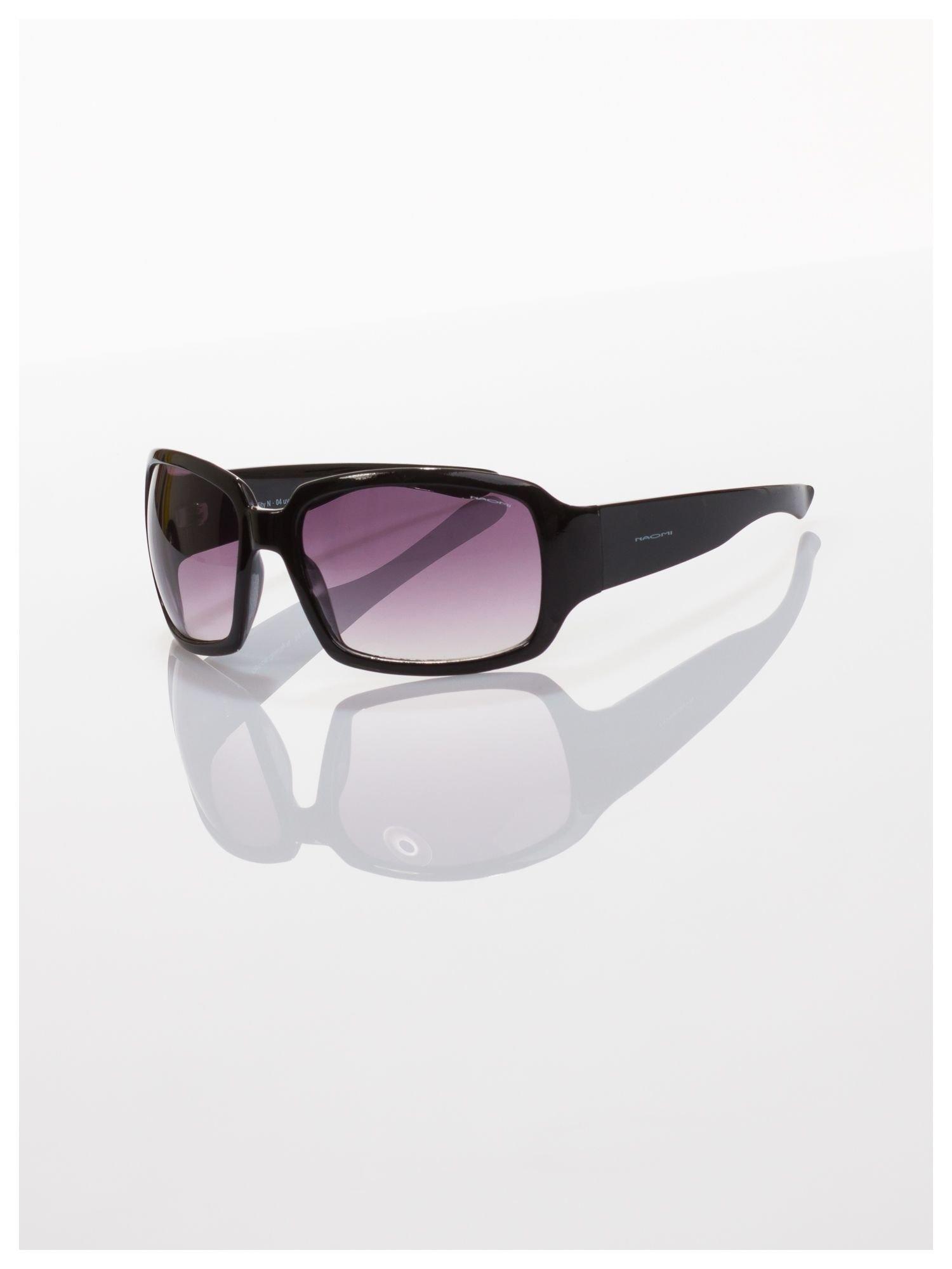 Czarne okulary przeciwsłoneczne dobrze eliminujące refleksy świetlne                                  zdj.                                  2