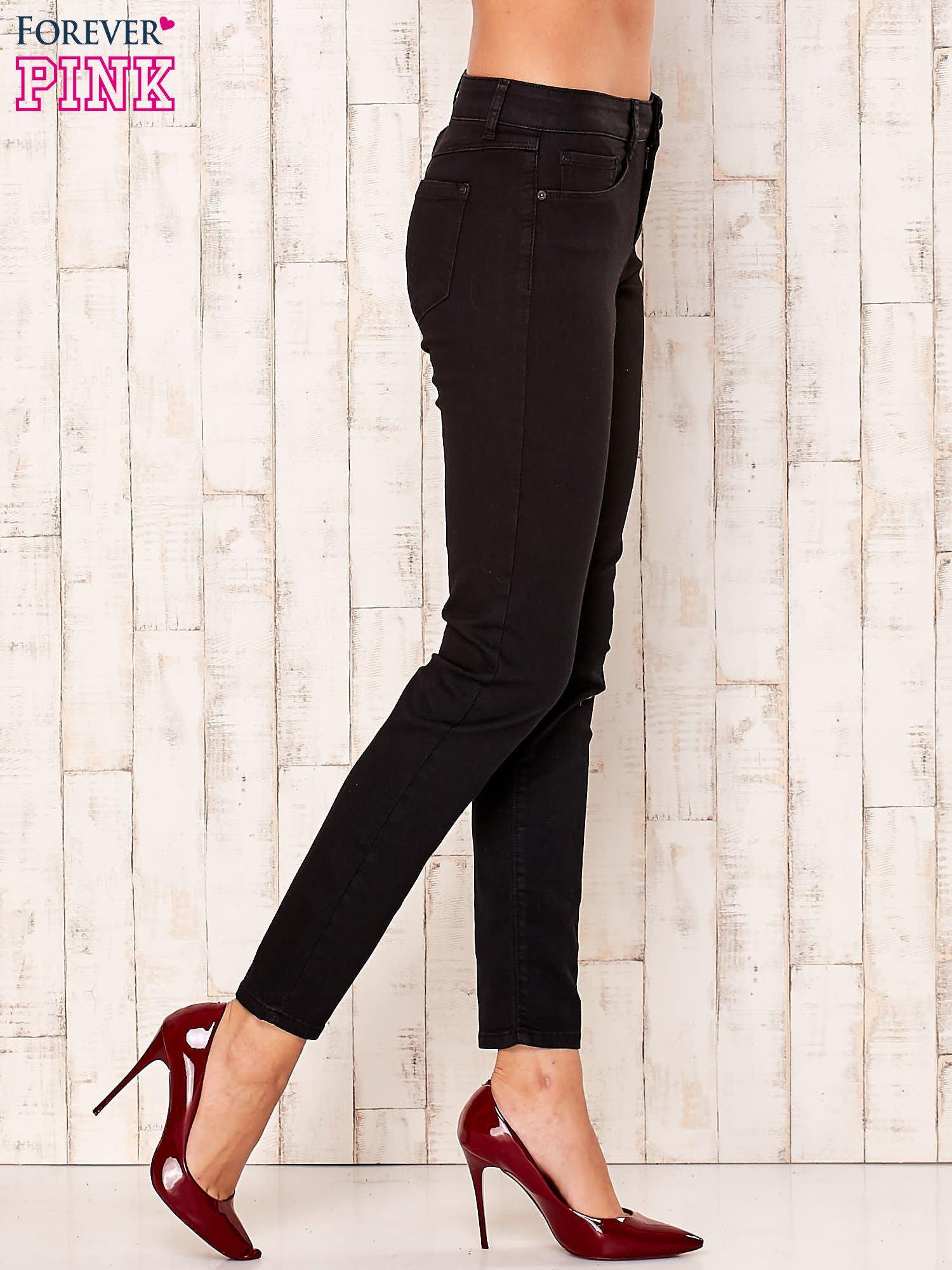 Czarne proste spodnie                                   zdj.                                  2
