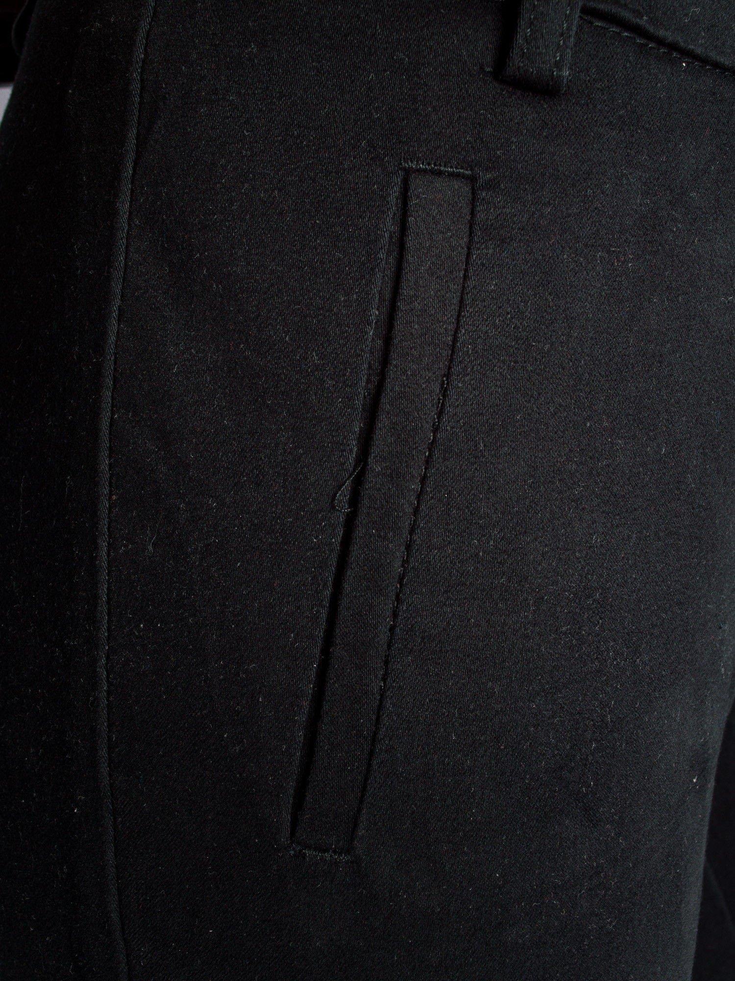 Czarne proste spodnie typu cygaretki 7/8                                  zdj.                                  5