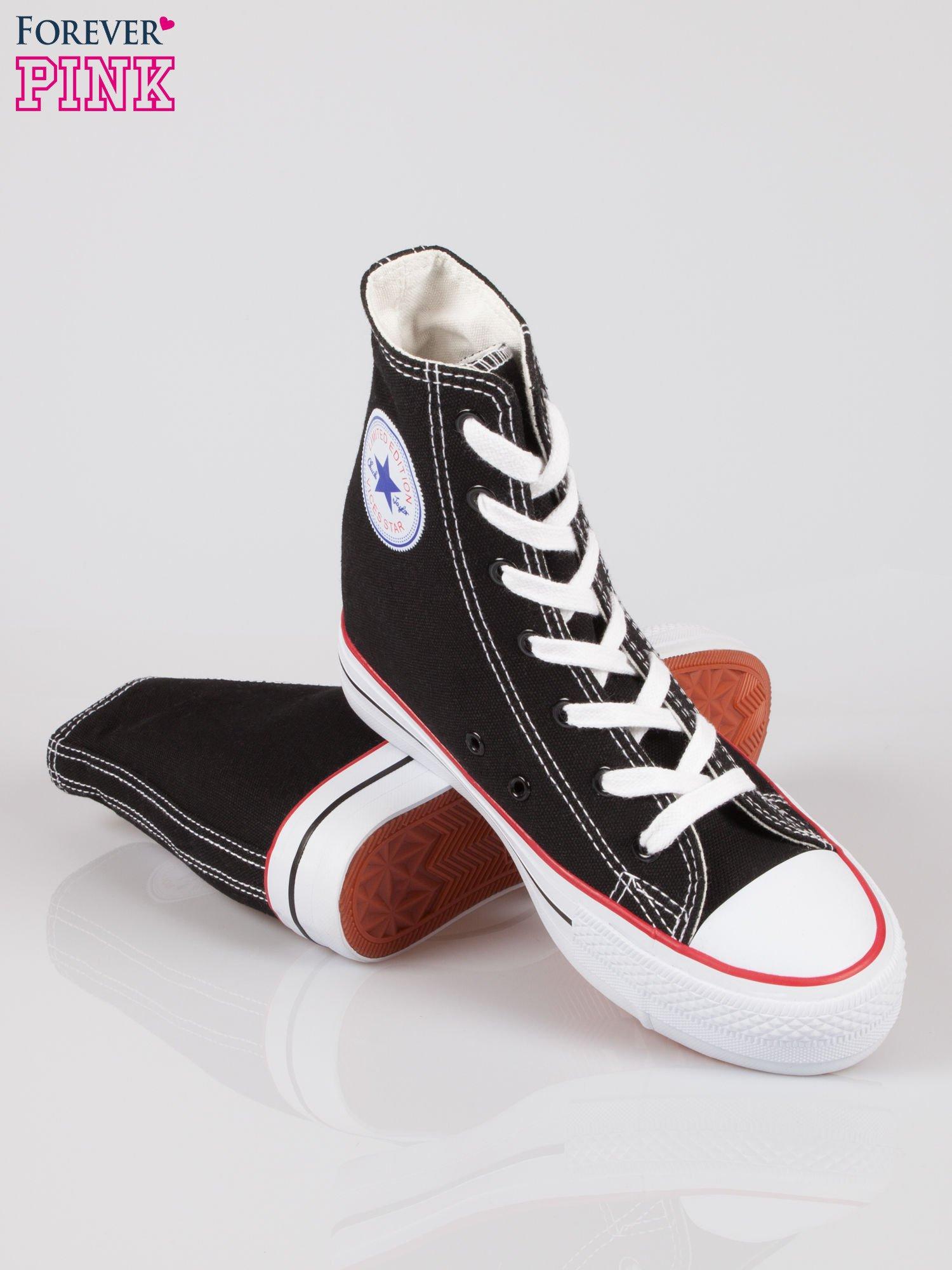 Czarne sneakersy trampki damskie na koturnie Liliana                                  zdj.                                  4