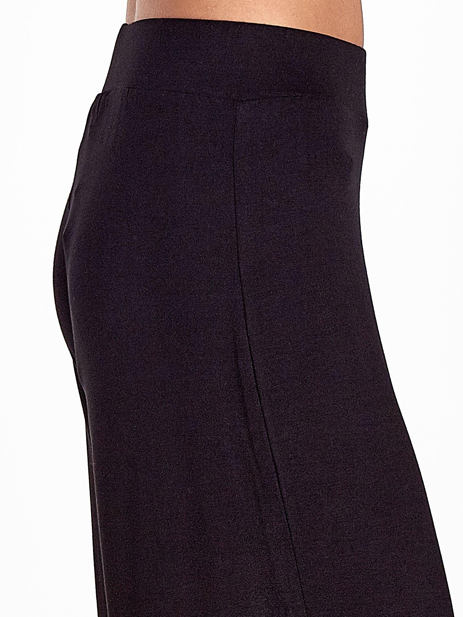 Czarne spódnicospodnie typu culottes                                  zdj.                                  7