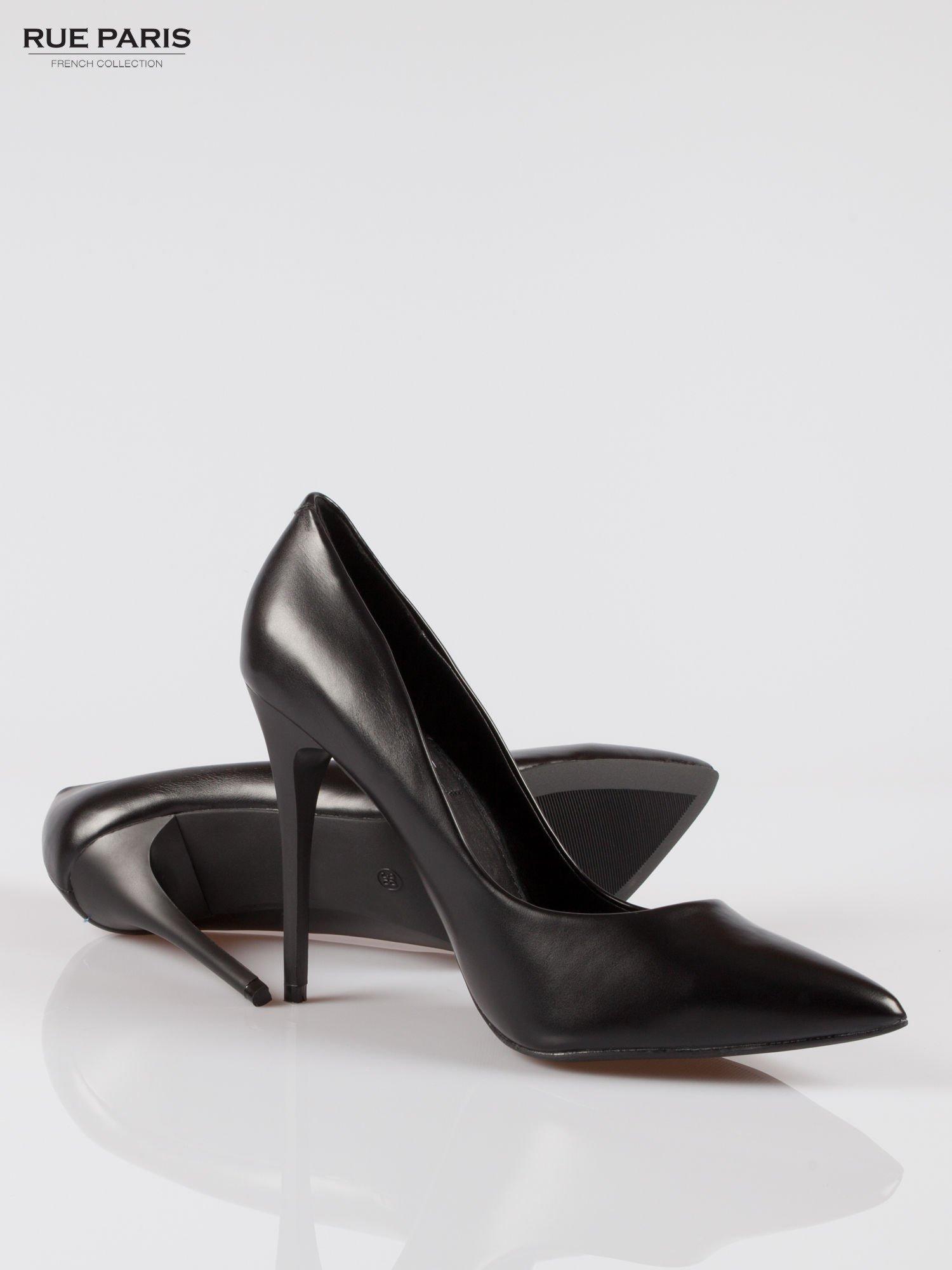 Czarne szpilki high heels z noskiem w szpic                                  zdj.                                  4