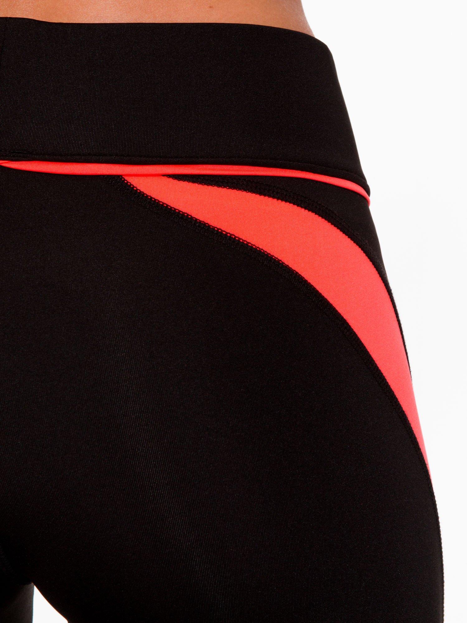 Czarne termoaktywne legginsy do biegania z fluoróżowymi lampasami ♦ Performance RUN                                  zdj.                                  7