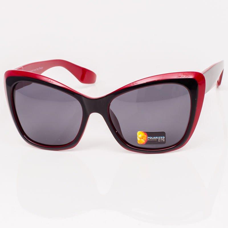 6665c96d176d6 Czarno Czerwone Damskie Okulary Polaryzacyjne Akcesoria Okulary