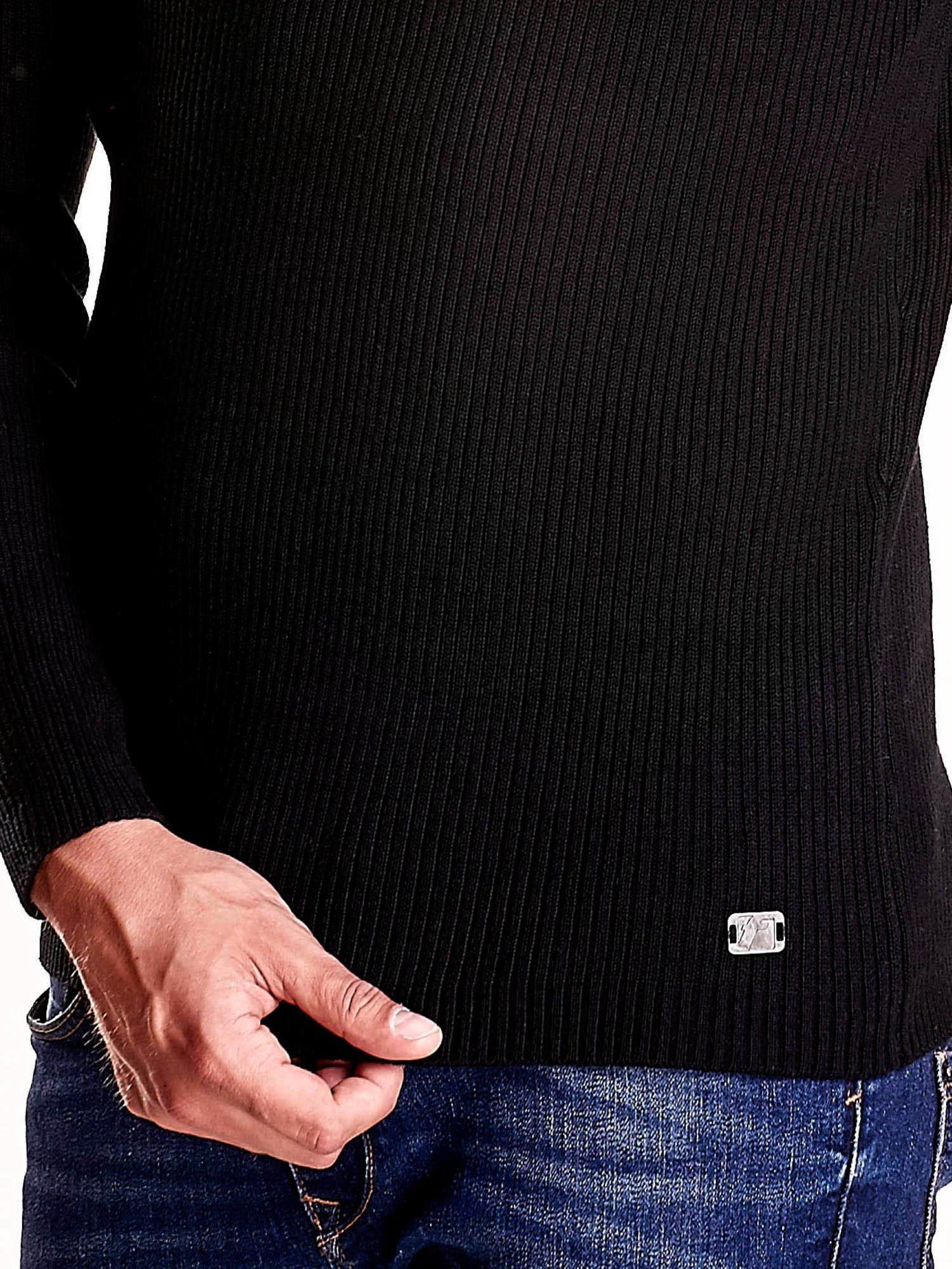 Czarny męski sweter z golfem FUNK N SOUL                                  zdj.                                  6