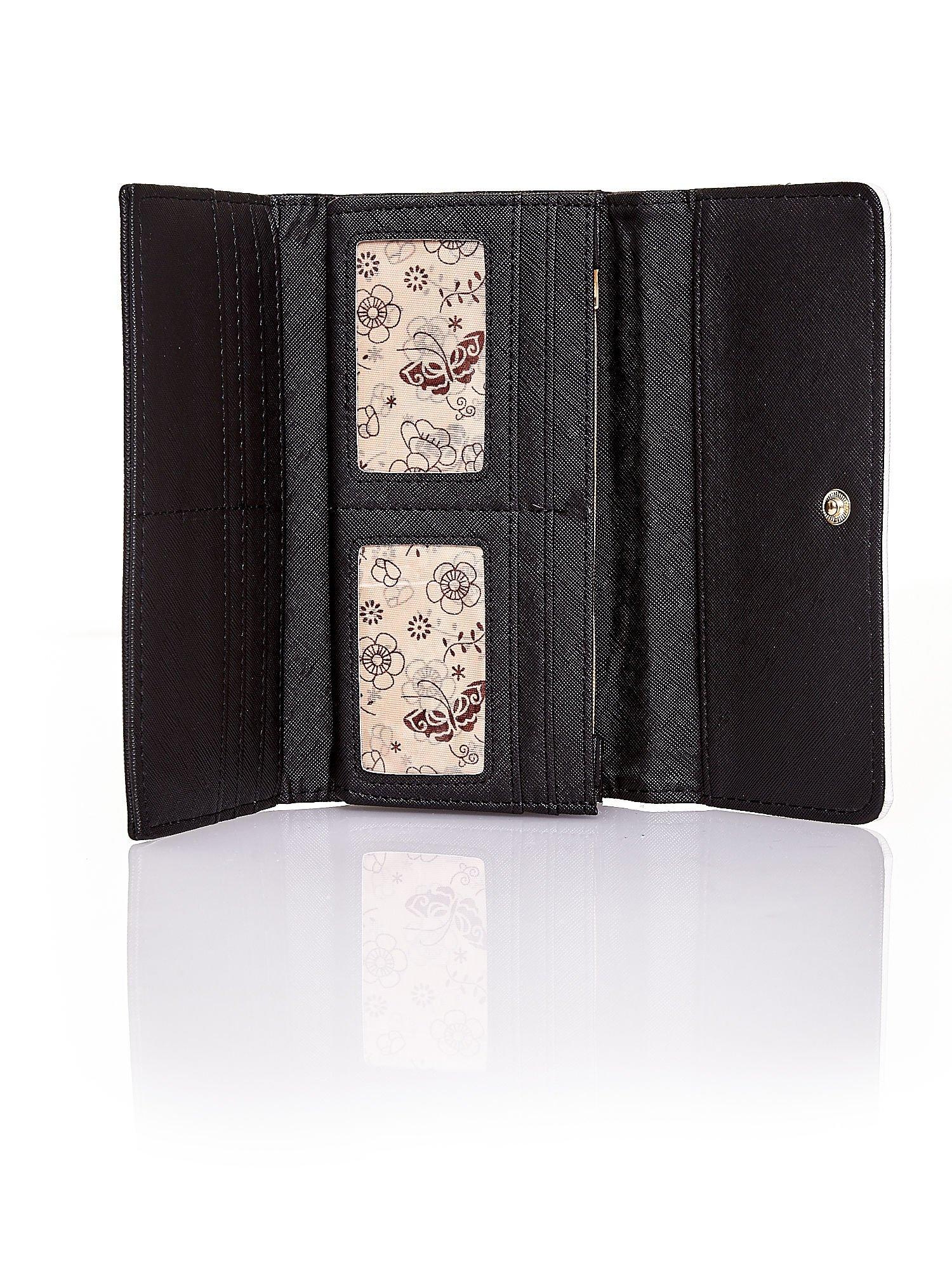 Czarny portfel z białym wykończeniem                                  zdj.                                  5