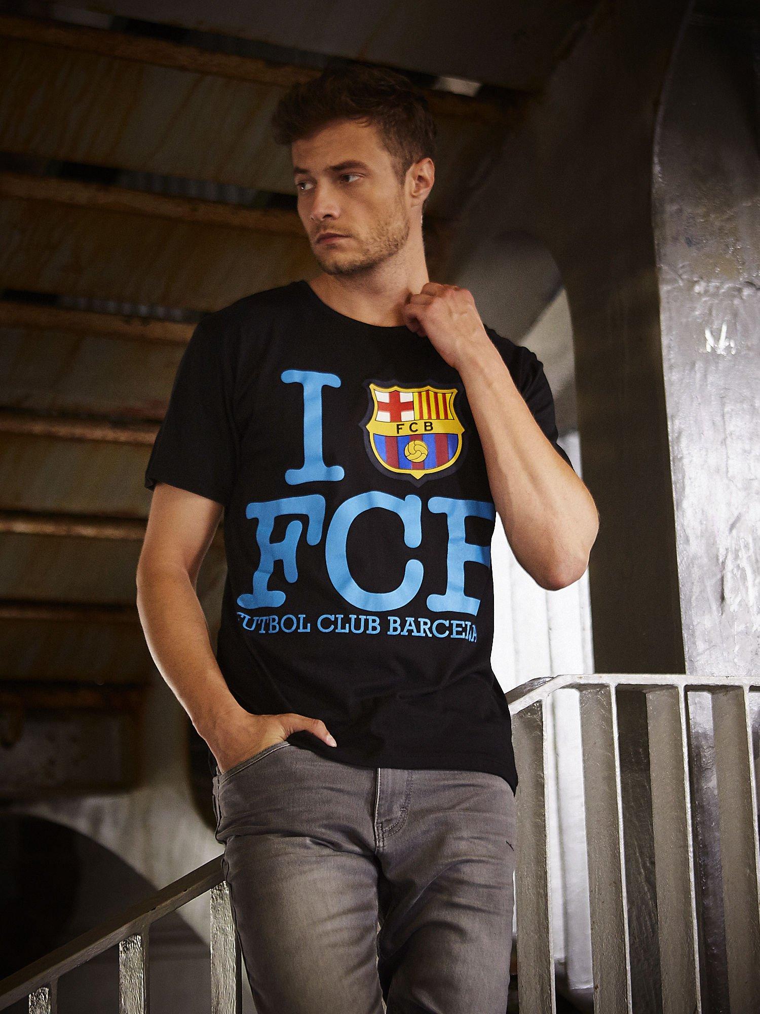 Czarny t-shirt męski FC BARCELONA                                  zdj.                                  1