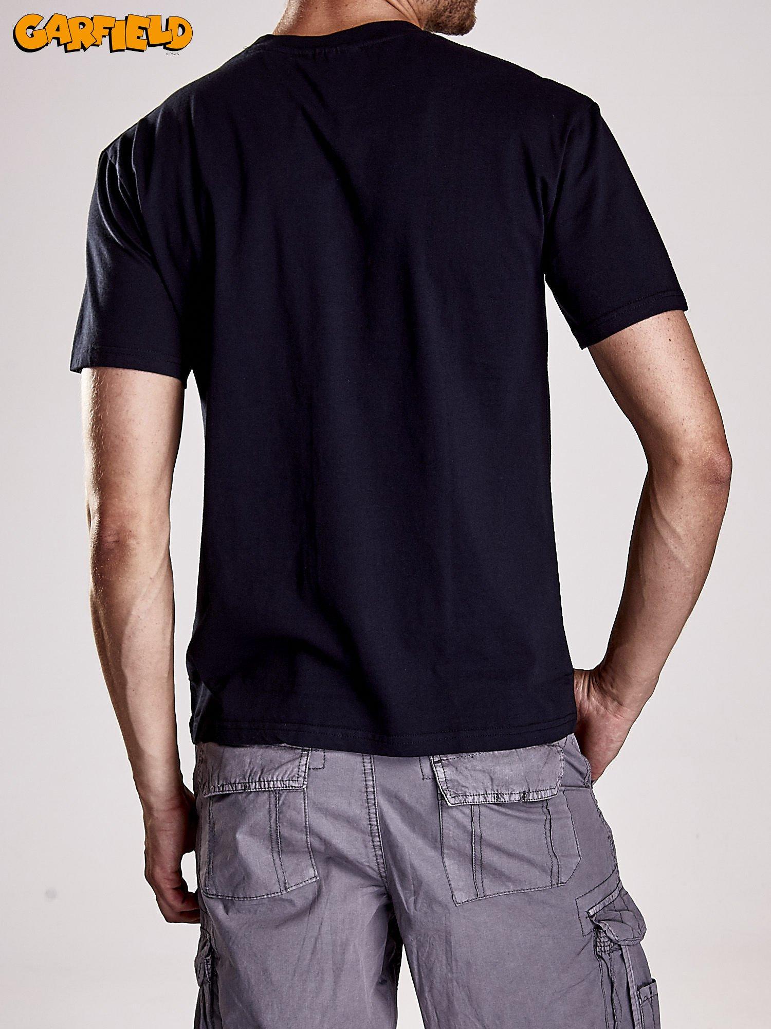 Czarny t-shirt męski GARFIELD                                  zdj.                                  5