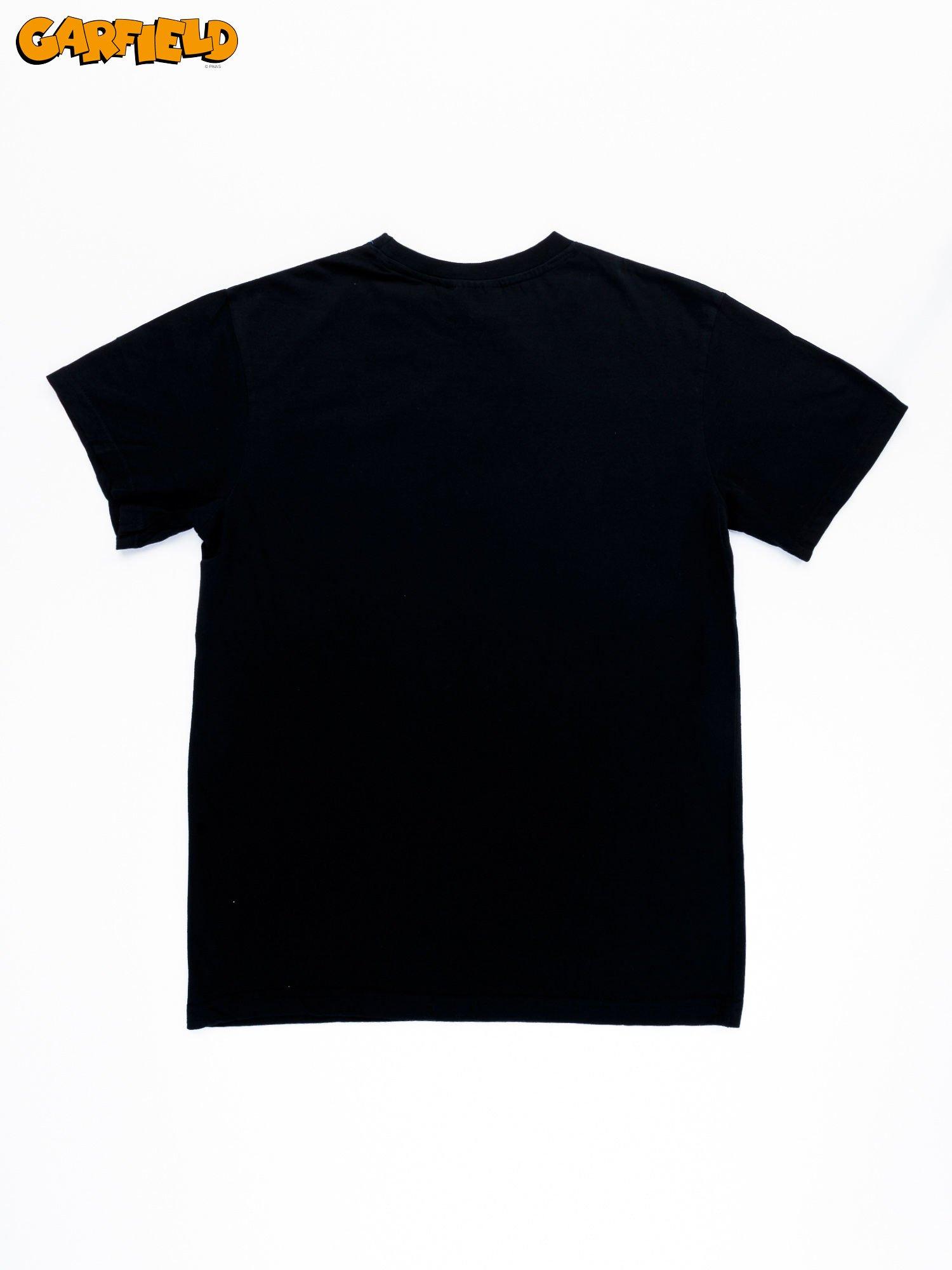 Czarny t-shirt męski GARFIELD                                  zdj.                                  9