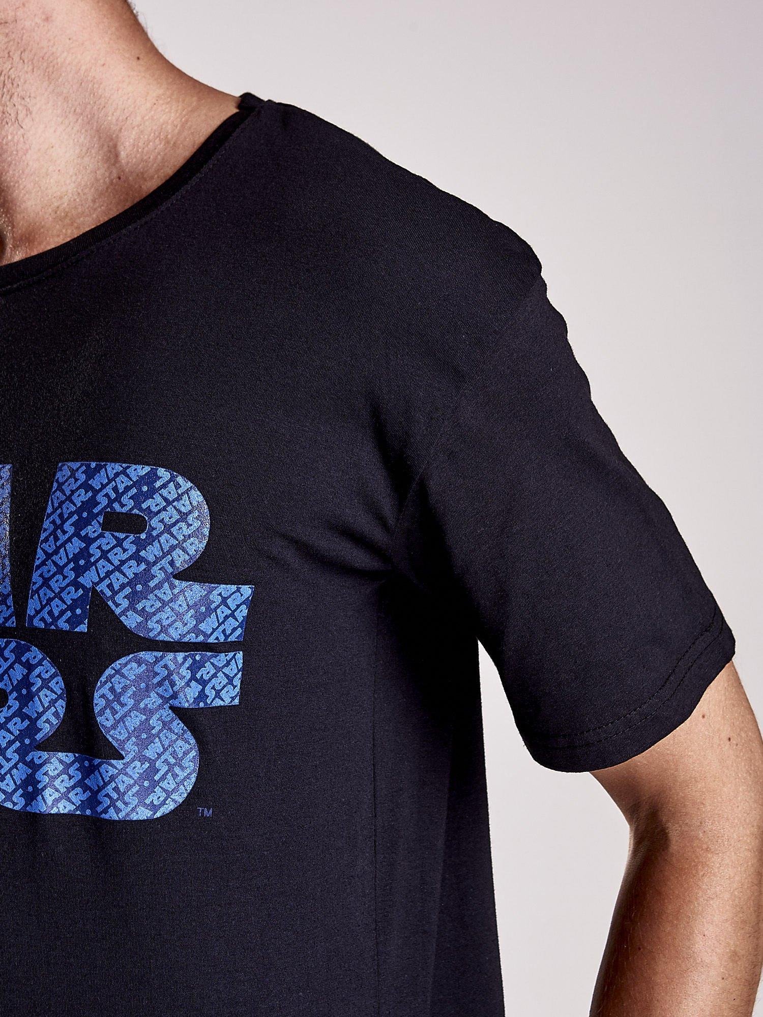 Czarny t-shirt męski z nadrukiem STAR WARS                                  zdj.                                  8
