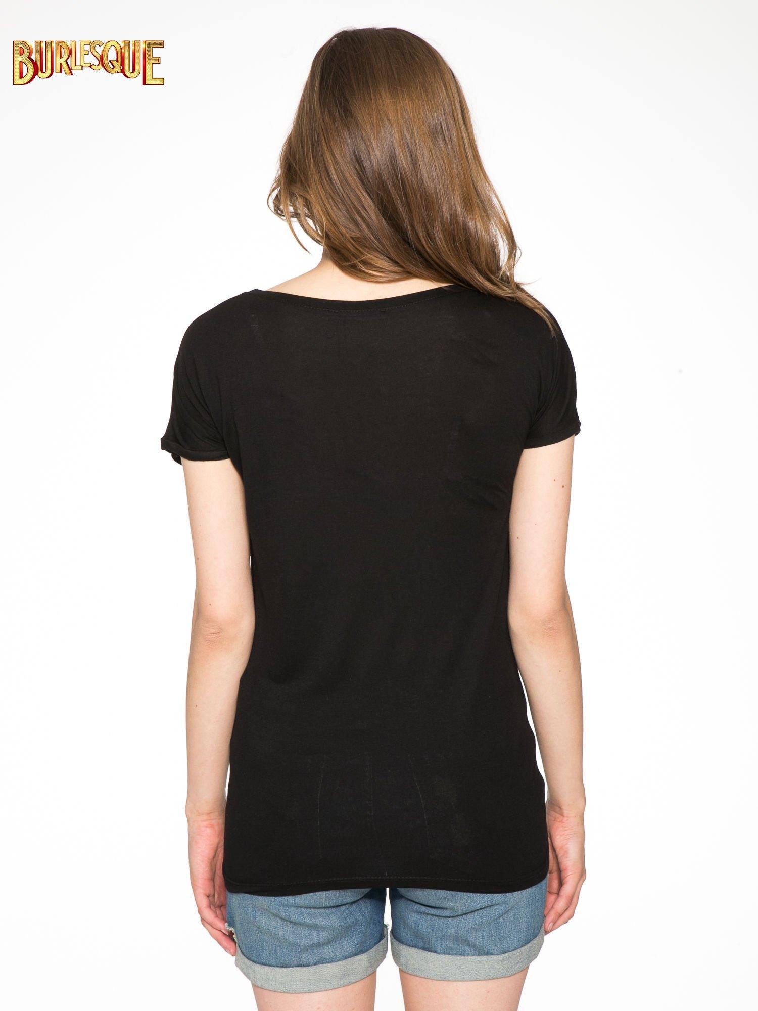 Czarny t-shirt z napisem NO MORE PARTY WITHOUT ME                                  zdj.                                  4