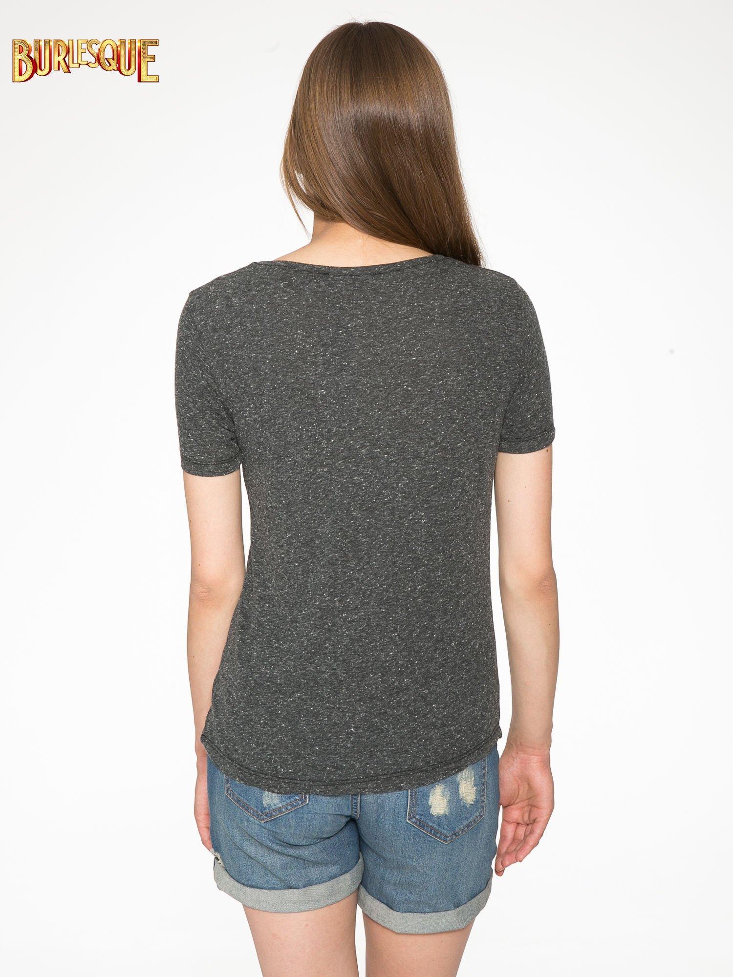 Czarny t-shirt z napisem ROUTE NEW YORK                                  zdj.                                  4