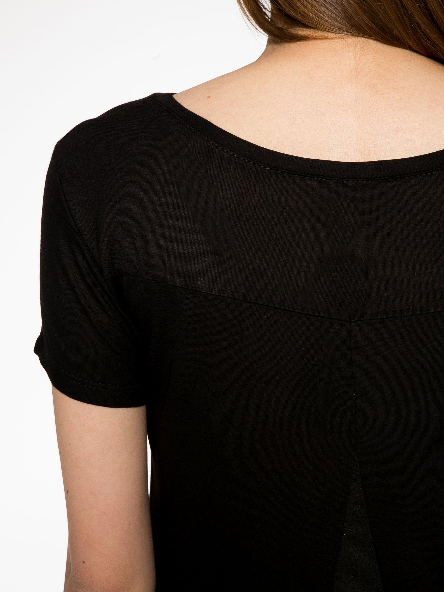 Czarny t-shirt ze złotym napisem NEW YORK HERE I COME AGAIN                                  zdj.                                  9
