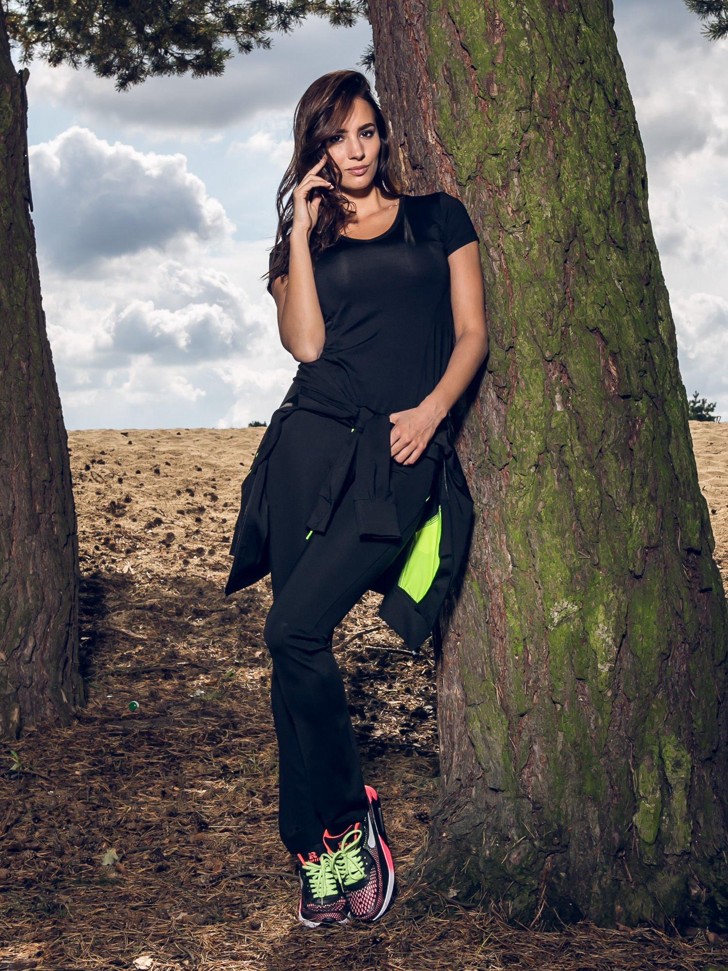 Czarny termoaktywny t-shirt sportowy z siateczką z tyłu ♦ Performance RUN                                  zdj.                                  10