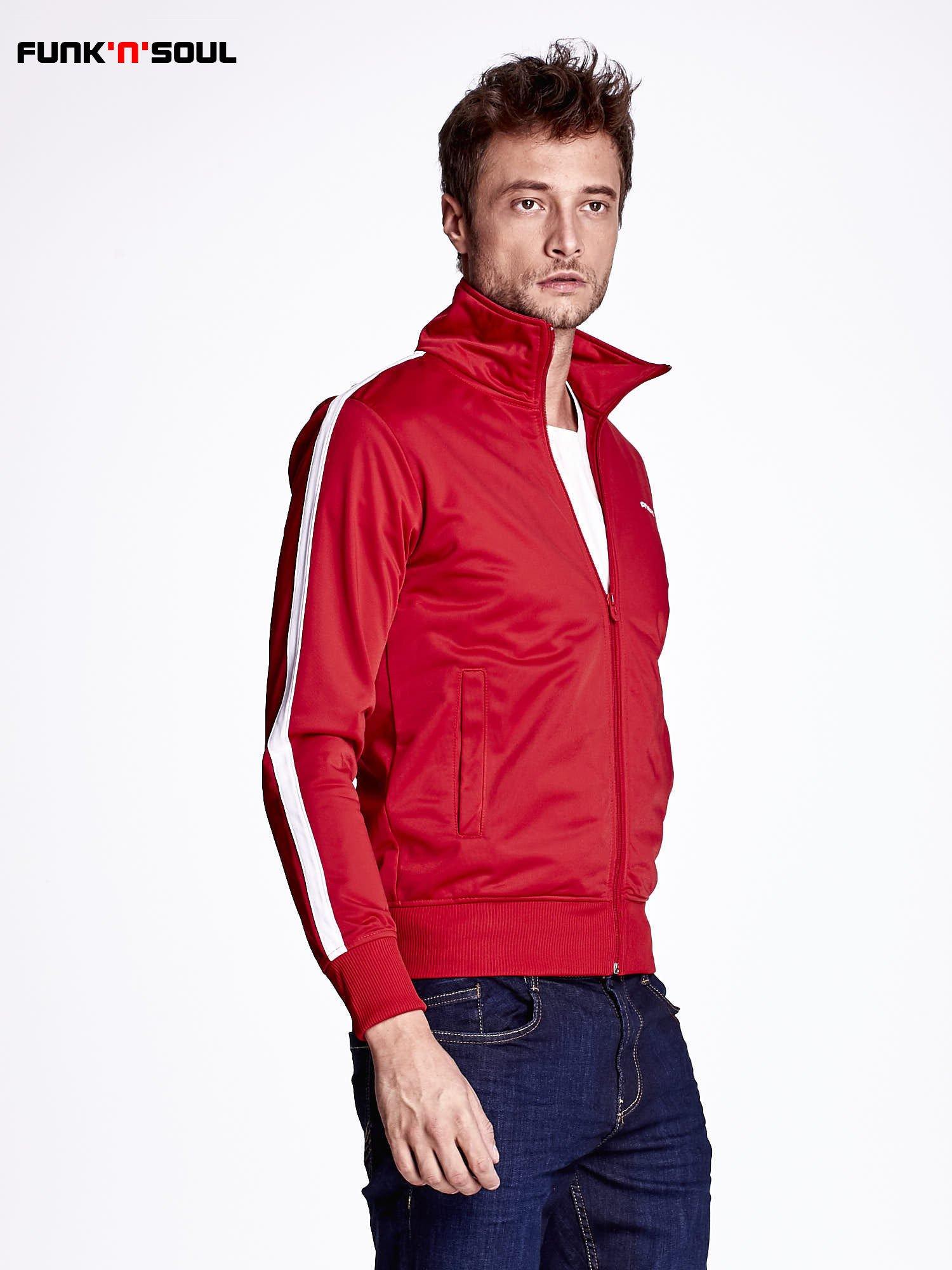 Czerwona bluza męska ze stójką FUNK N SOUL                                  zdj.                                  3