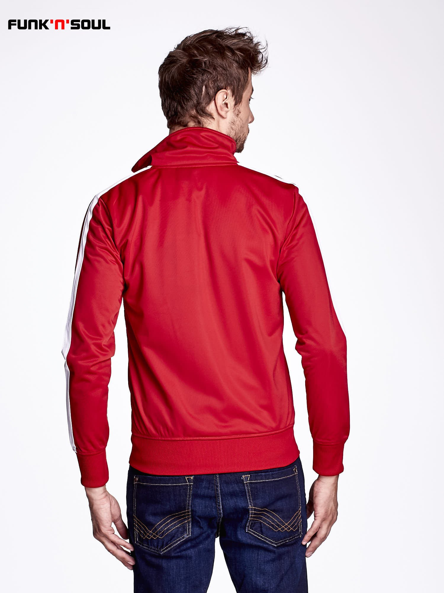 Czerwona bluza męska ze stójką FUNK N SOUL                                  zdj.                                  4