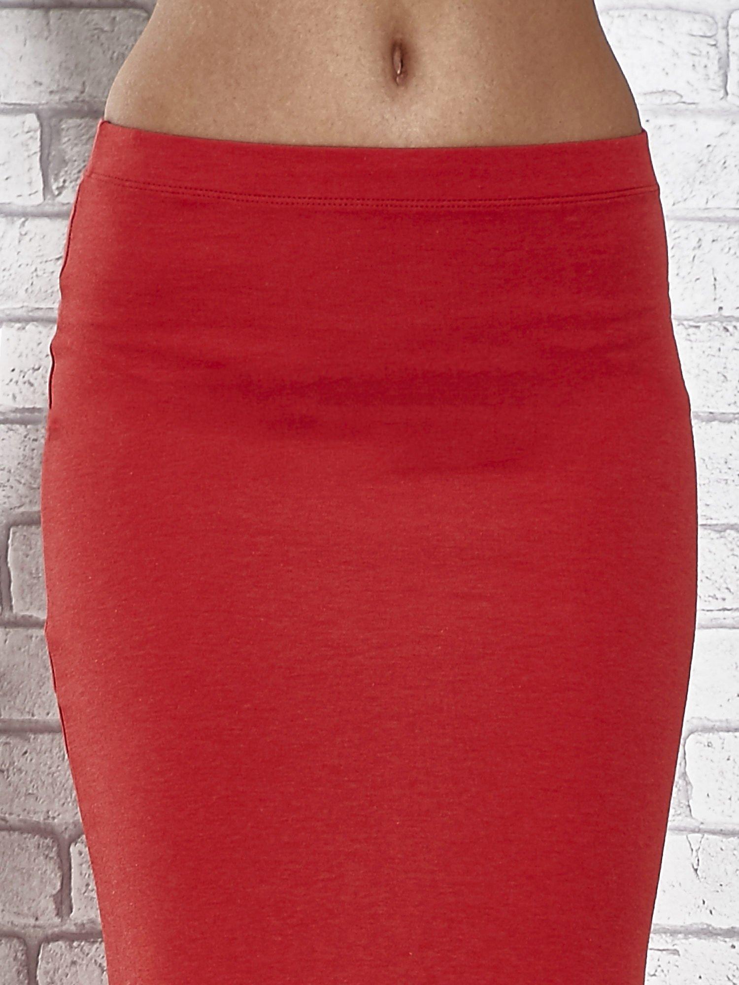 Czerwona długa spódnica maxi z rozporkiem                                  zdj.                                  6