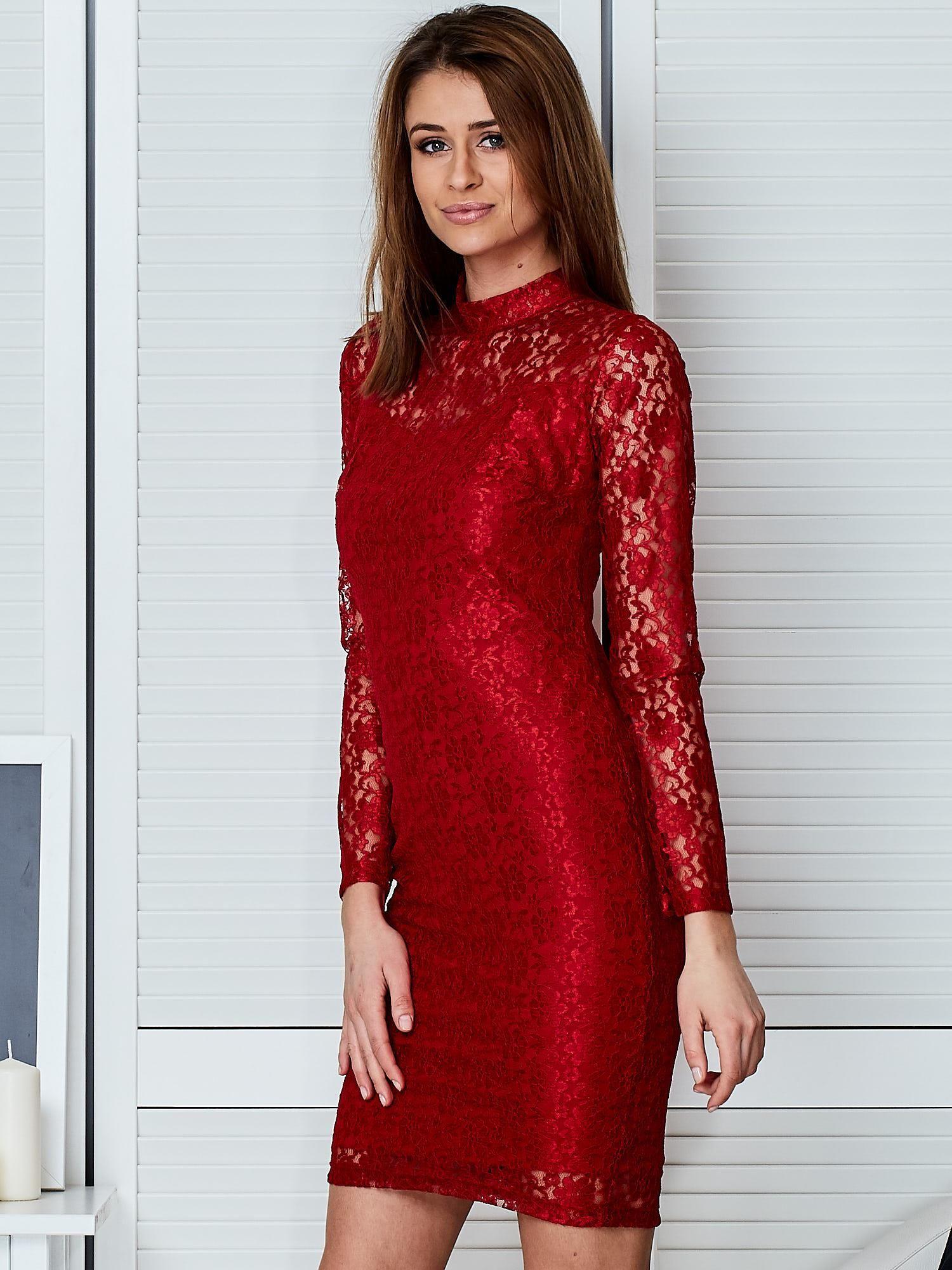 aed0f0f7f4 Czerwona Sukienka Koronkowa Dla Dziewczynki. Czerwona elegancka koronkowa  sukienka - Sukienka .