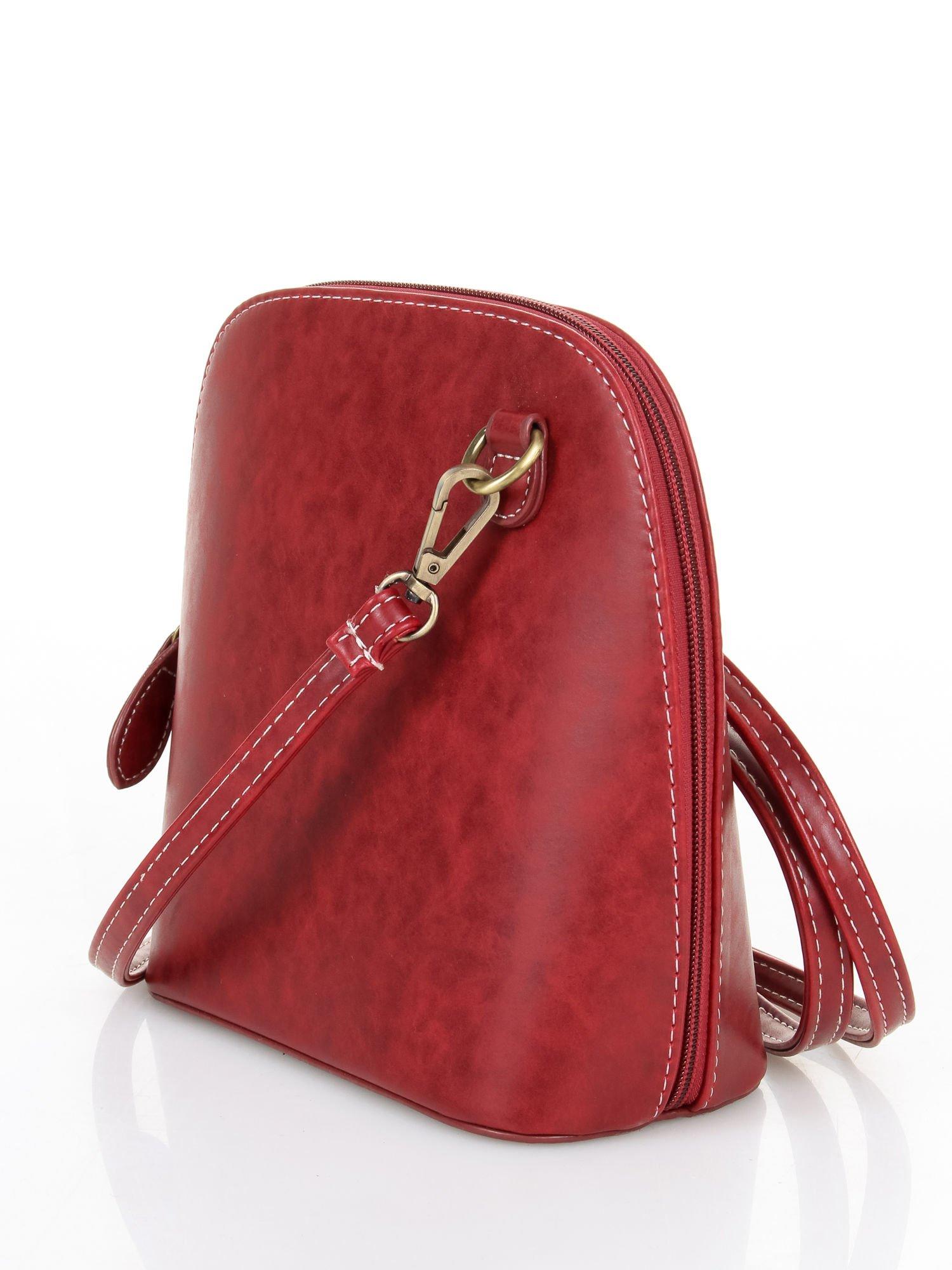 Czerwona elegancka listonoszka z odpinanaym paskiem                                  zdj.                                  2