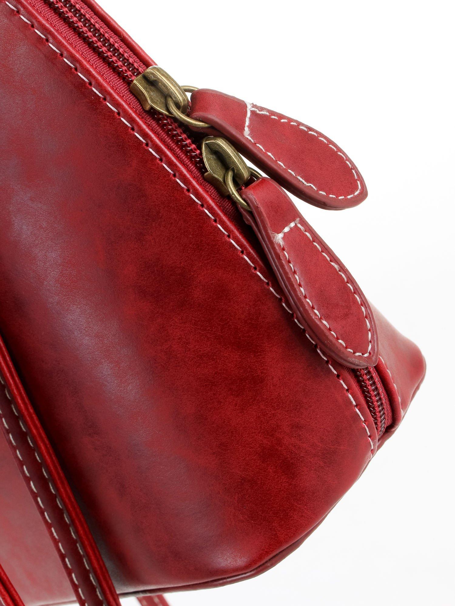 Czerwona elegancka listonoszka z odpinanaym paskiem                                  zdj.                                  6