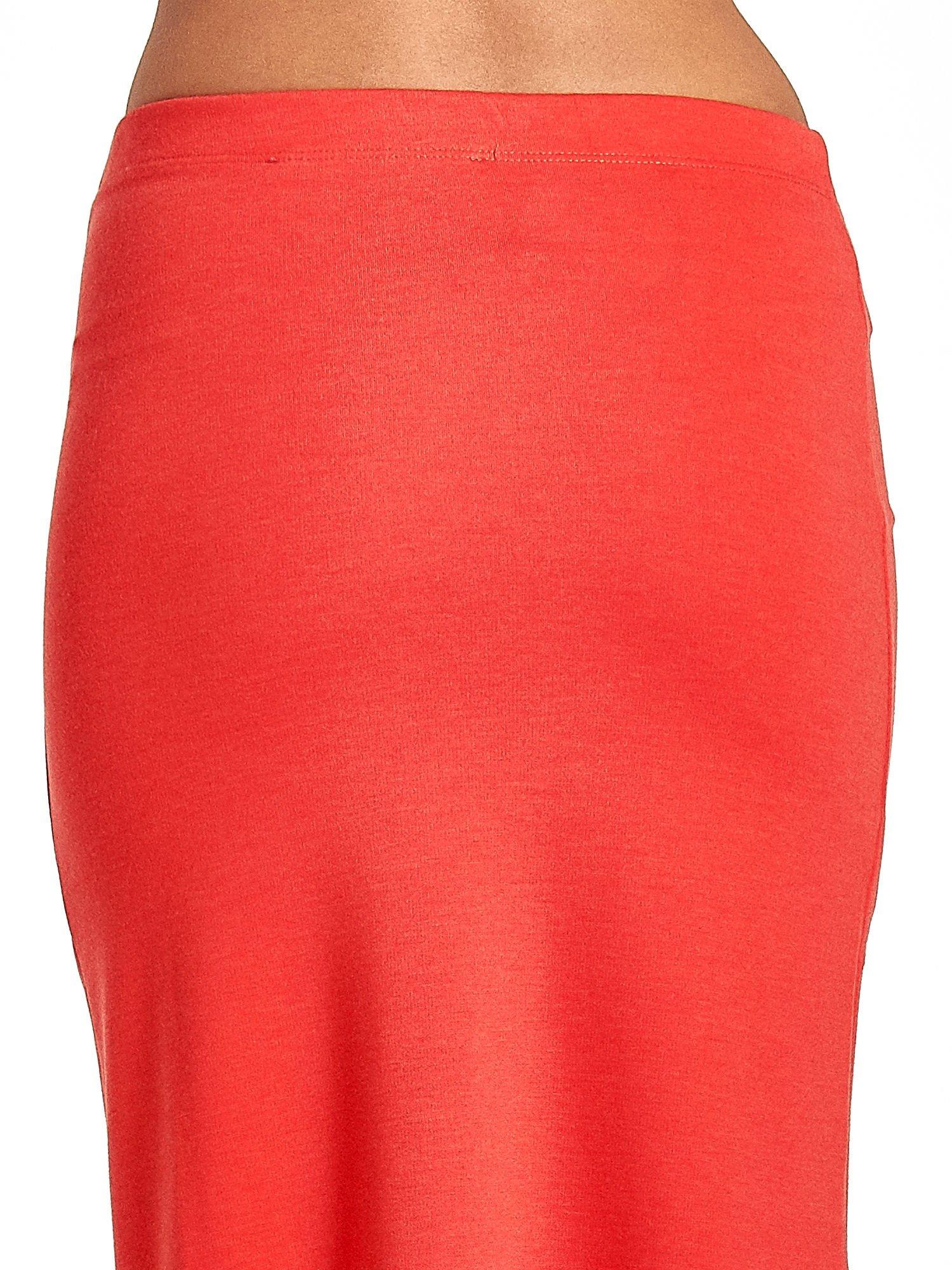 Czerwona maxi spódnica z rozcięciem z boku                                  zdj.                                  7