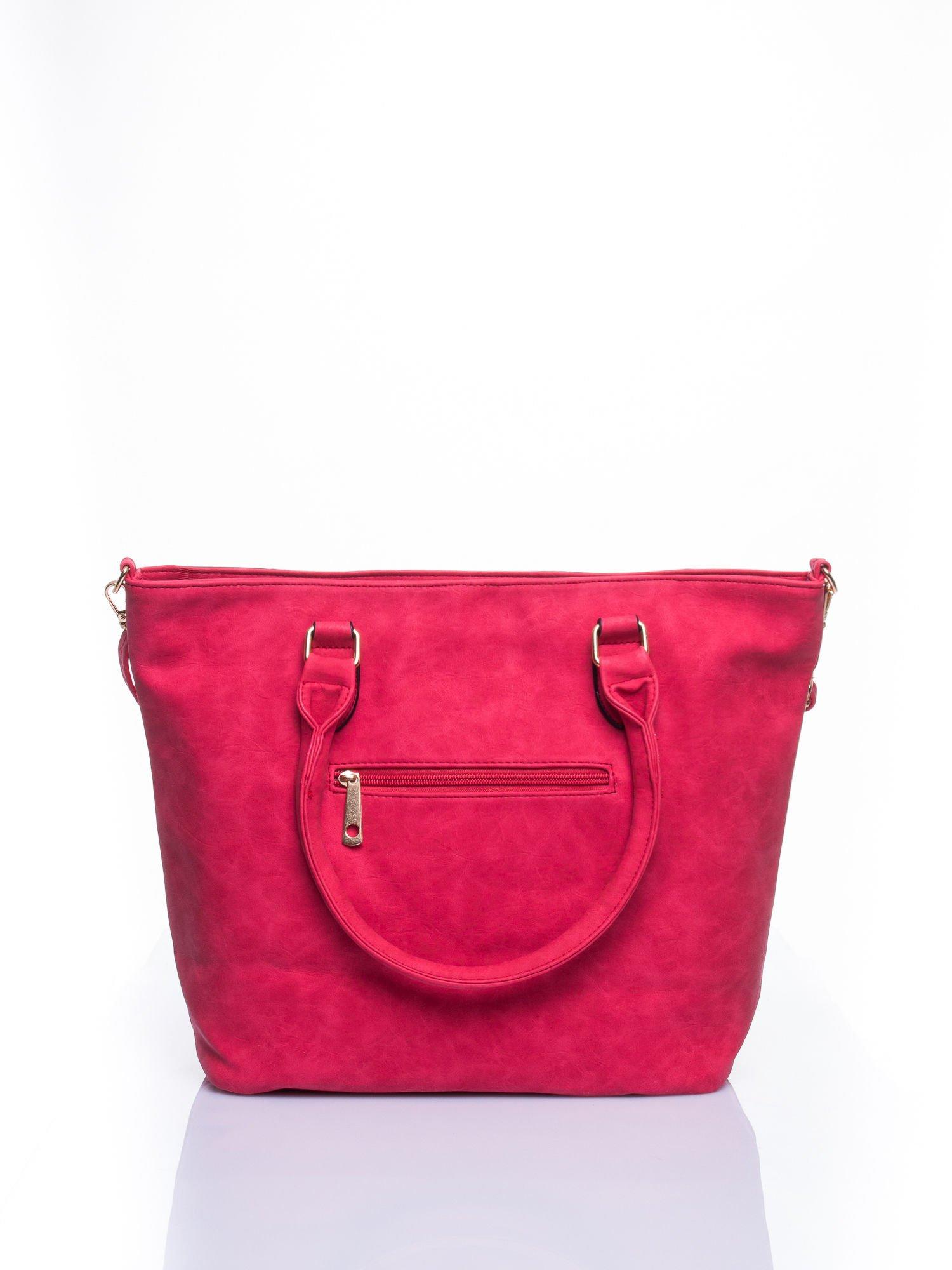 Czerwona torba city bag na ramię                                  zdj.                                  2