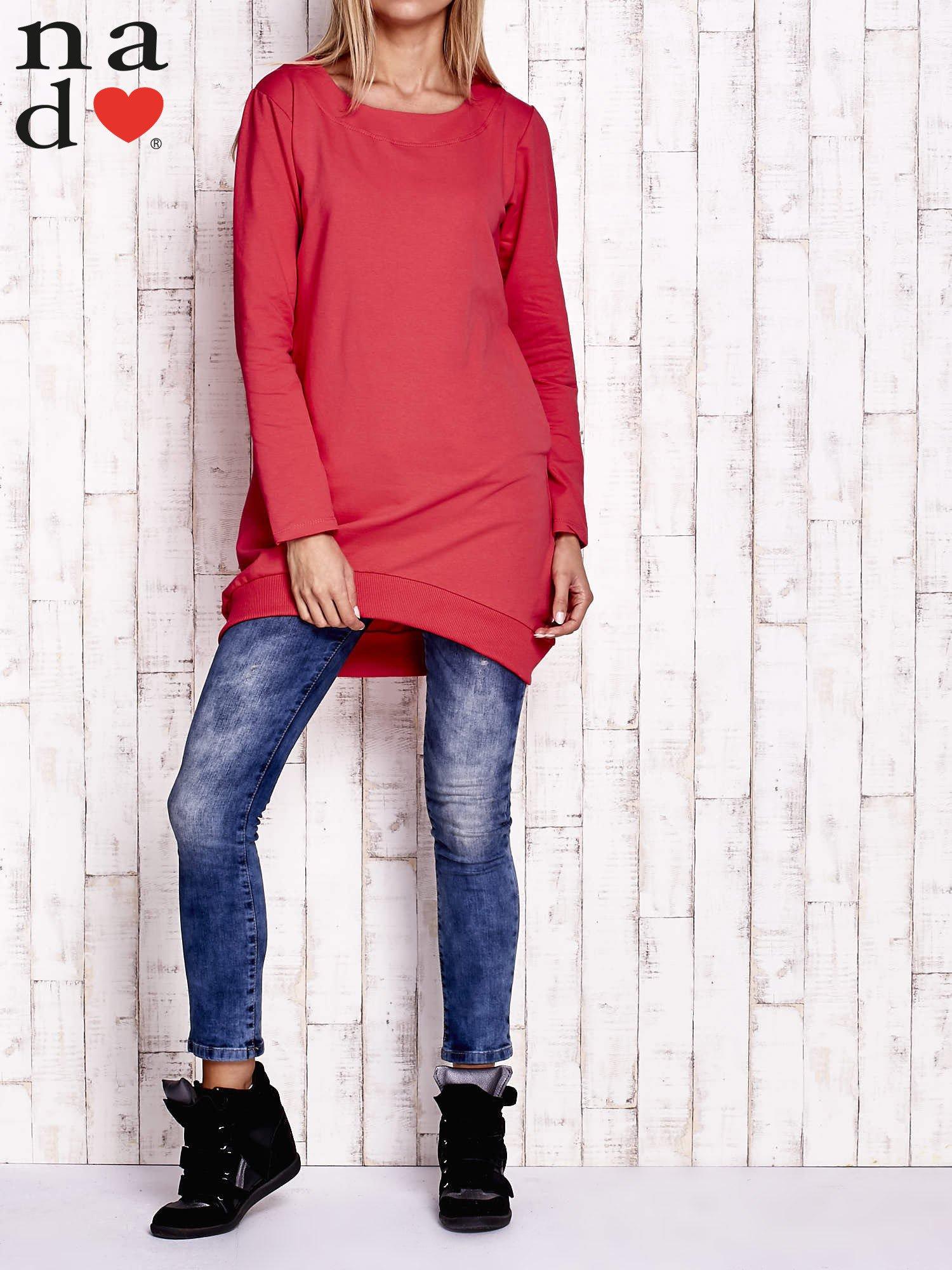 Czerwona tunika z kieszeniami - Bluzka Tunika - sklep eButik.pl cf2477fe56