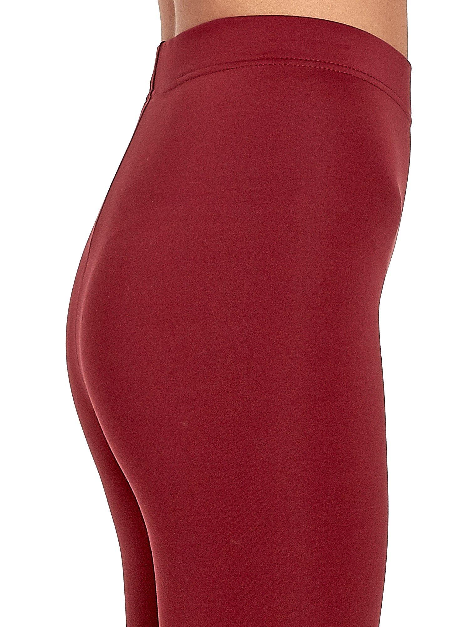 Czerwone legginsy basic z lekkim ociepleniem                                  zdj.                                  6