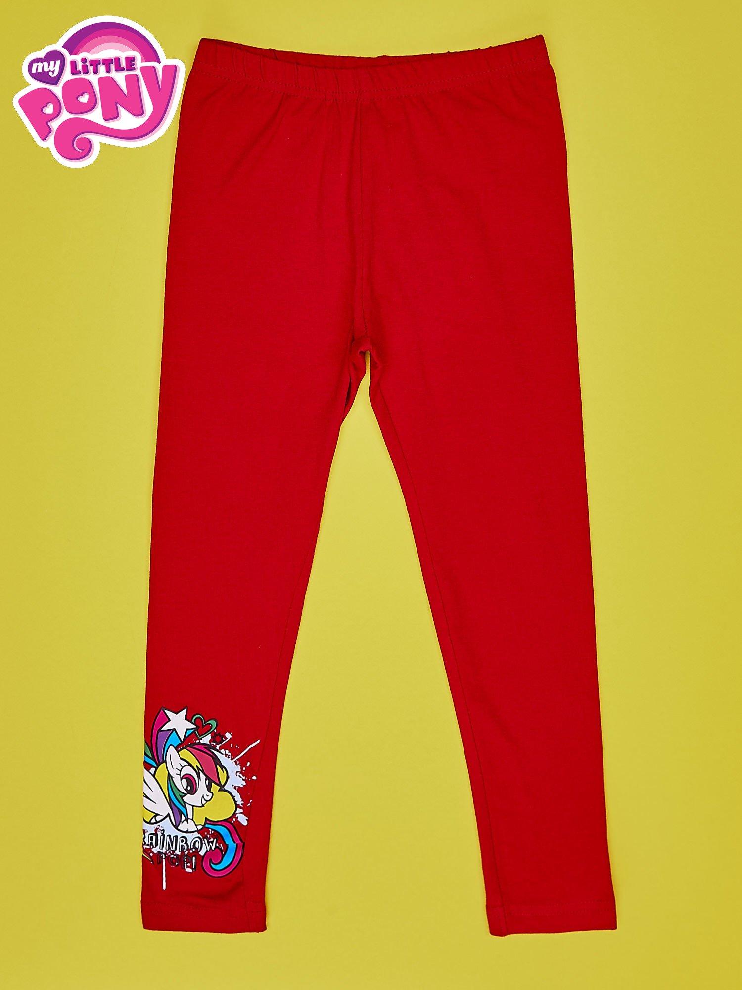 Czerwone legginsy dla dziewczynki z motywem MY LITTLE PONY                                  zdj.                                  1