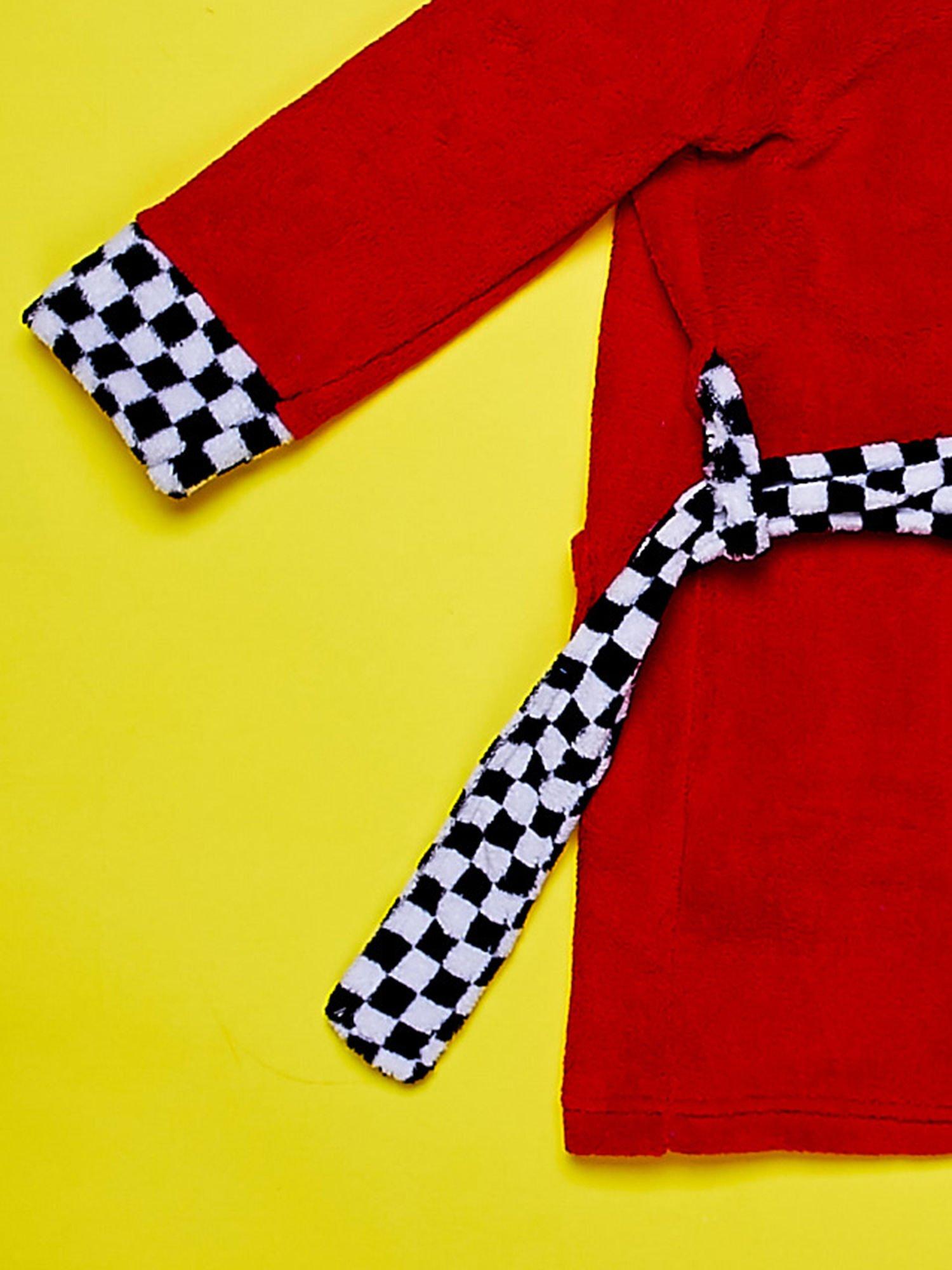 Czerwony chłopięcy szlafrok CARS                                  zdj.                                  6