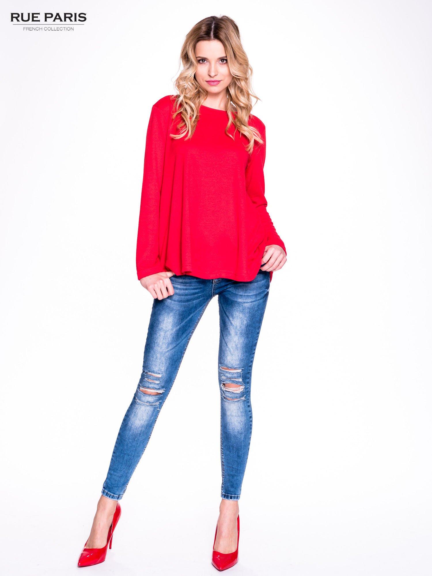 Czerwony klasyczny sweterek                                  zdj.                                  8