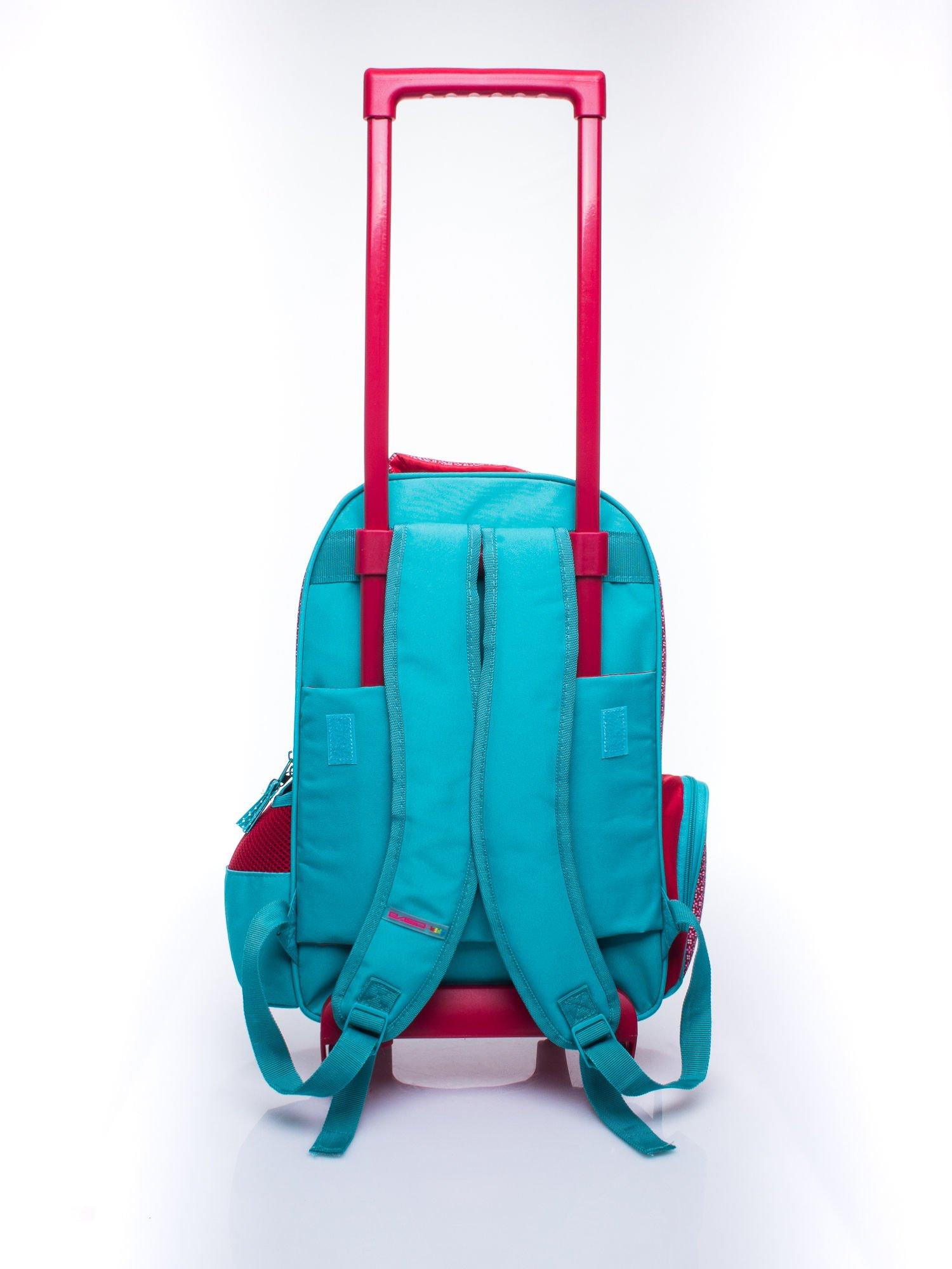 Czerwony plecak szkolny na kółkach walizka DISNEY w wisienki                                  zdj.                                  6